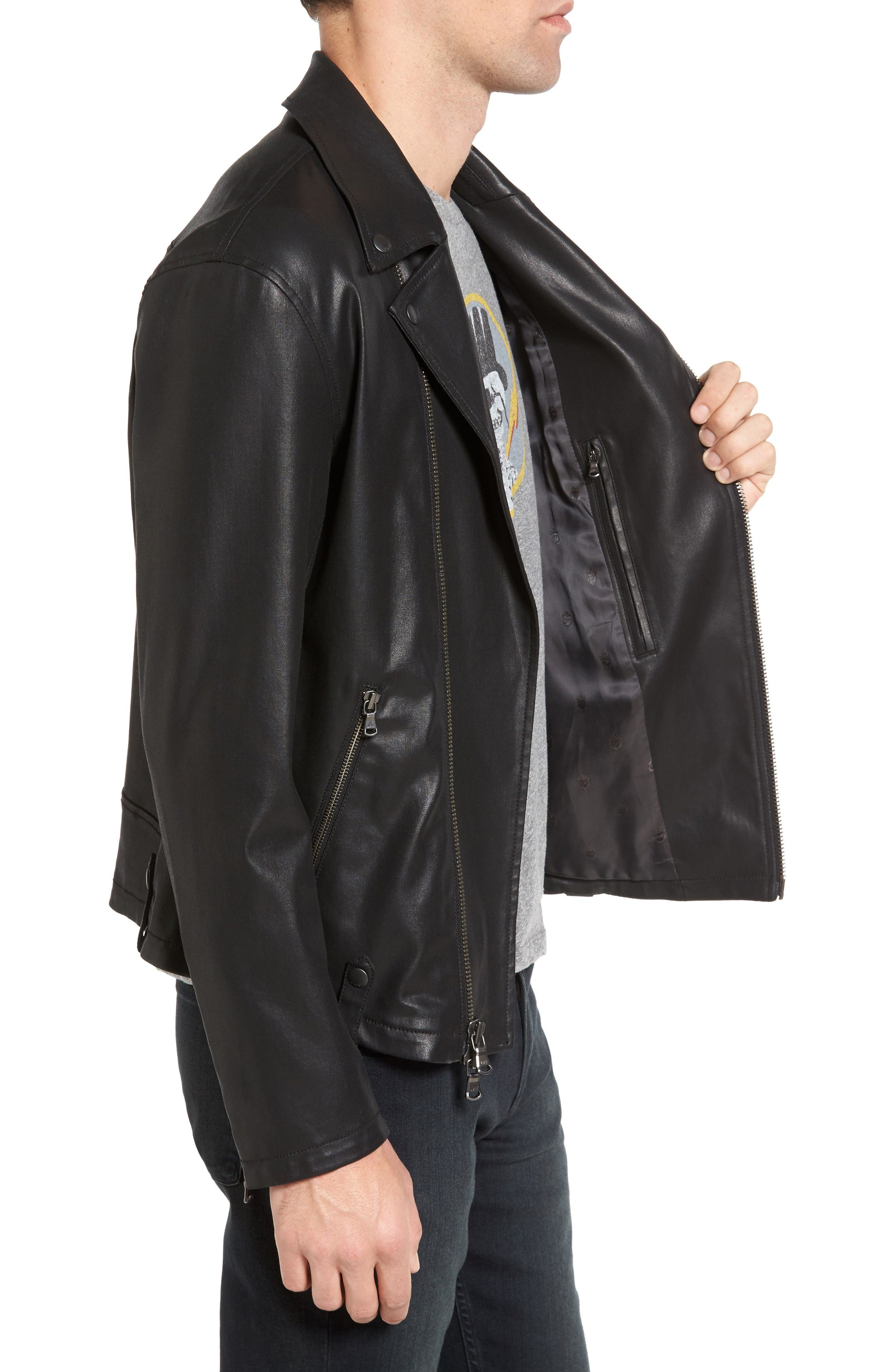 Alternate Image 3  - John Varvatos Star USA Coated Moto Jacket