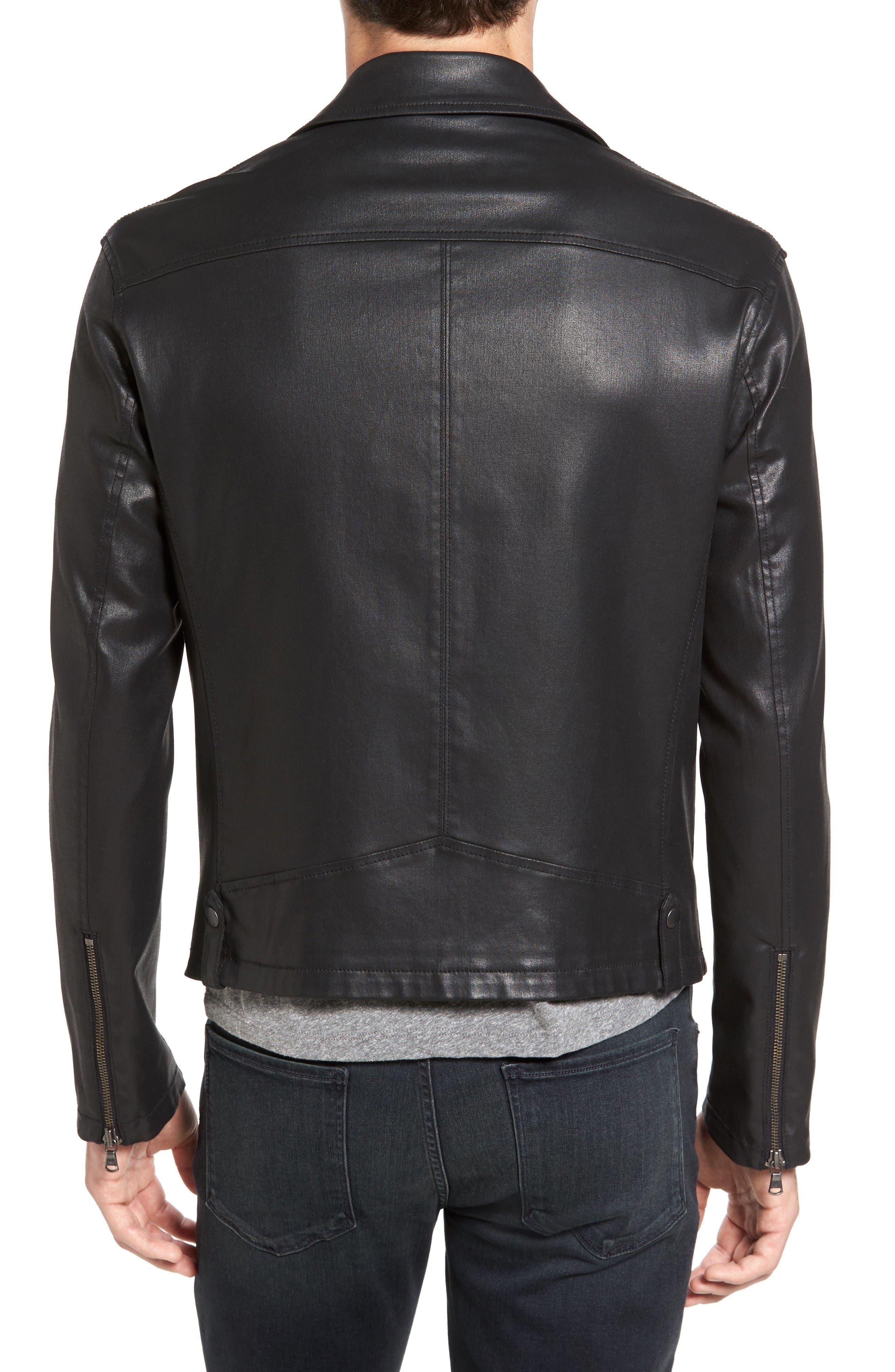 Alternate Image 2  - John Varvatos Star USA Coated Moto Jacket