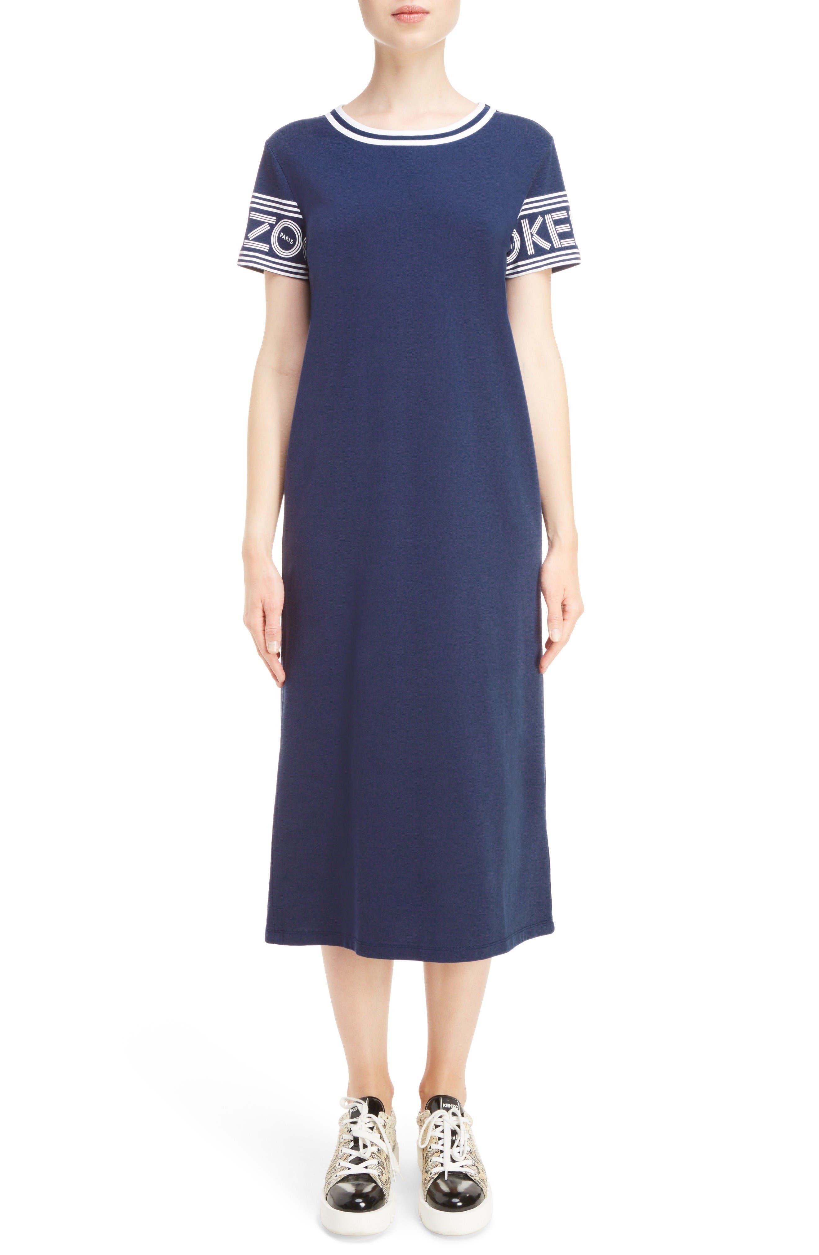 KENZO Cotton Jersey Skate Dress