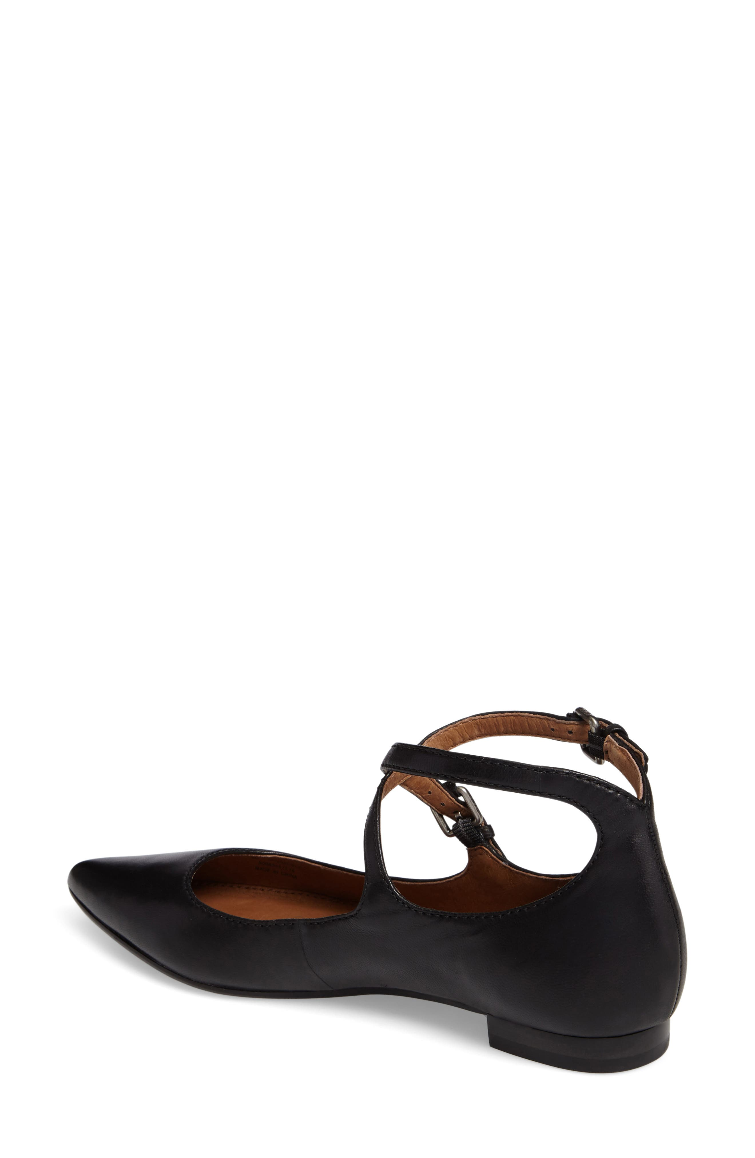 Sienna Cross Ballet Flat,                             Alternate thumbnail 2, color,                             Black