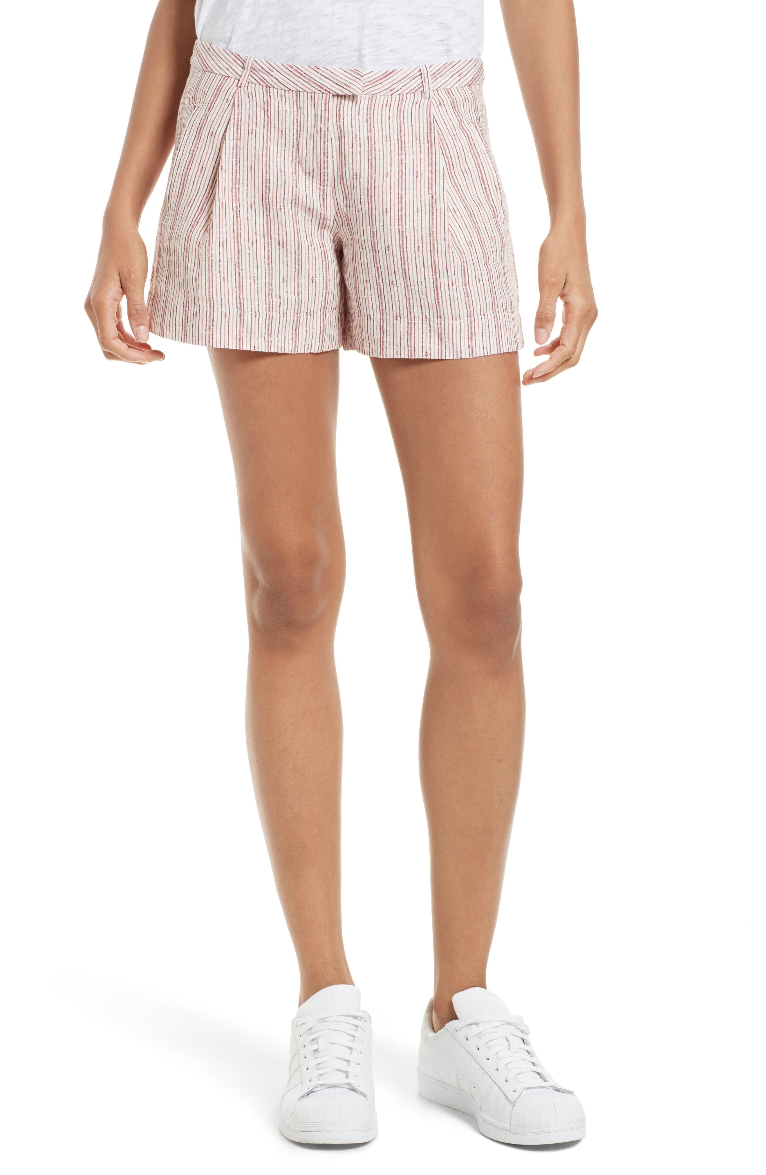 ATM Anthony Thomas Melillo Pleated Linen Shorts