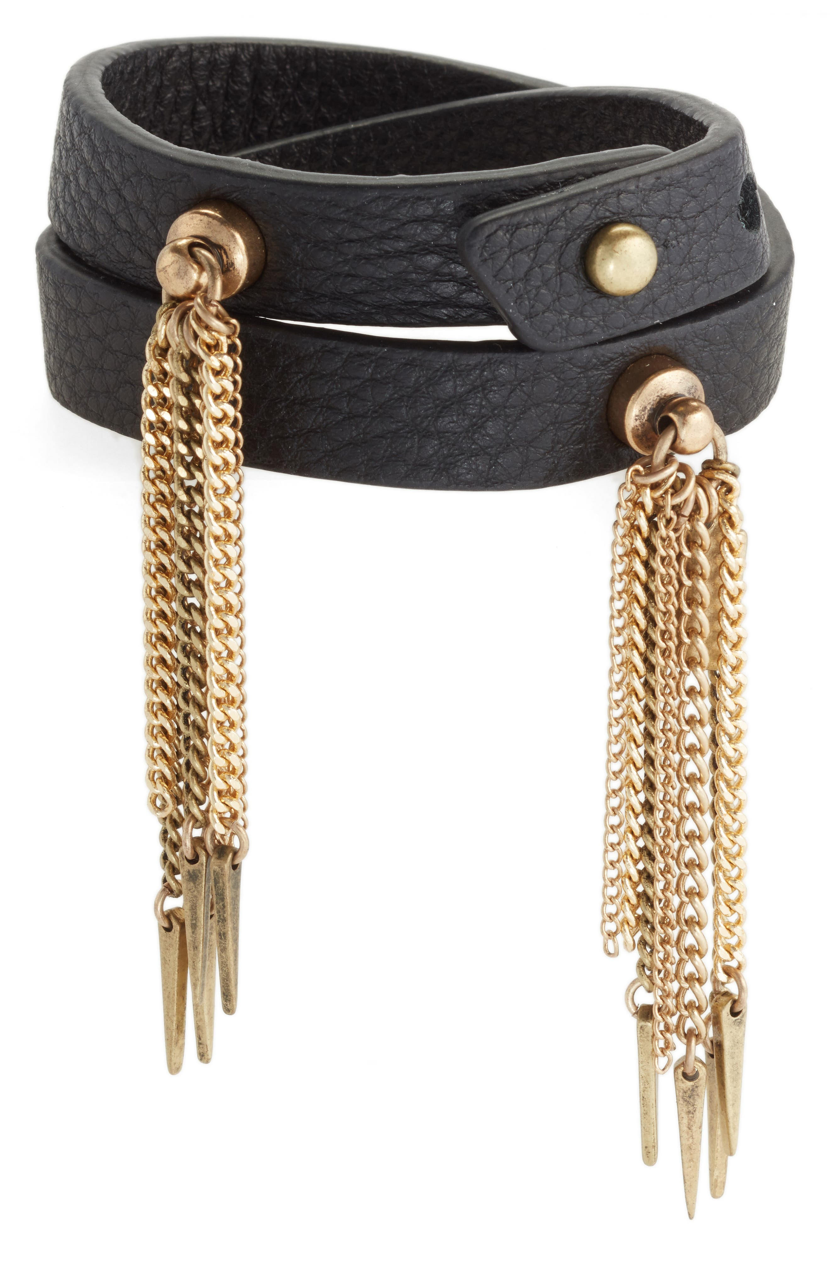 JENNY BIRD Luna Warrior Leather Wrap Bracelet