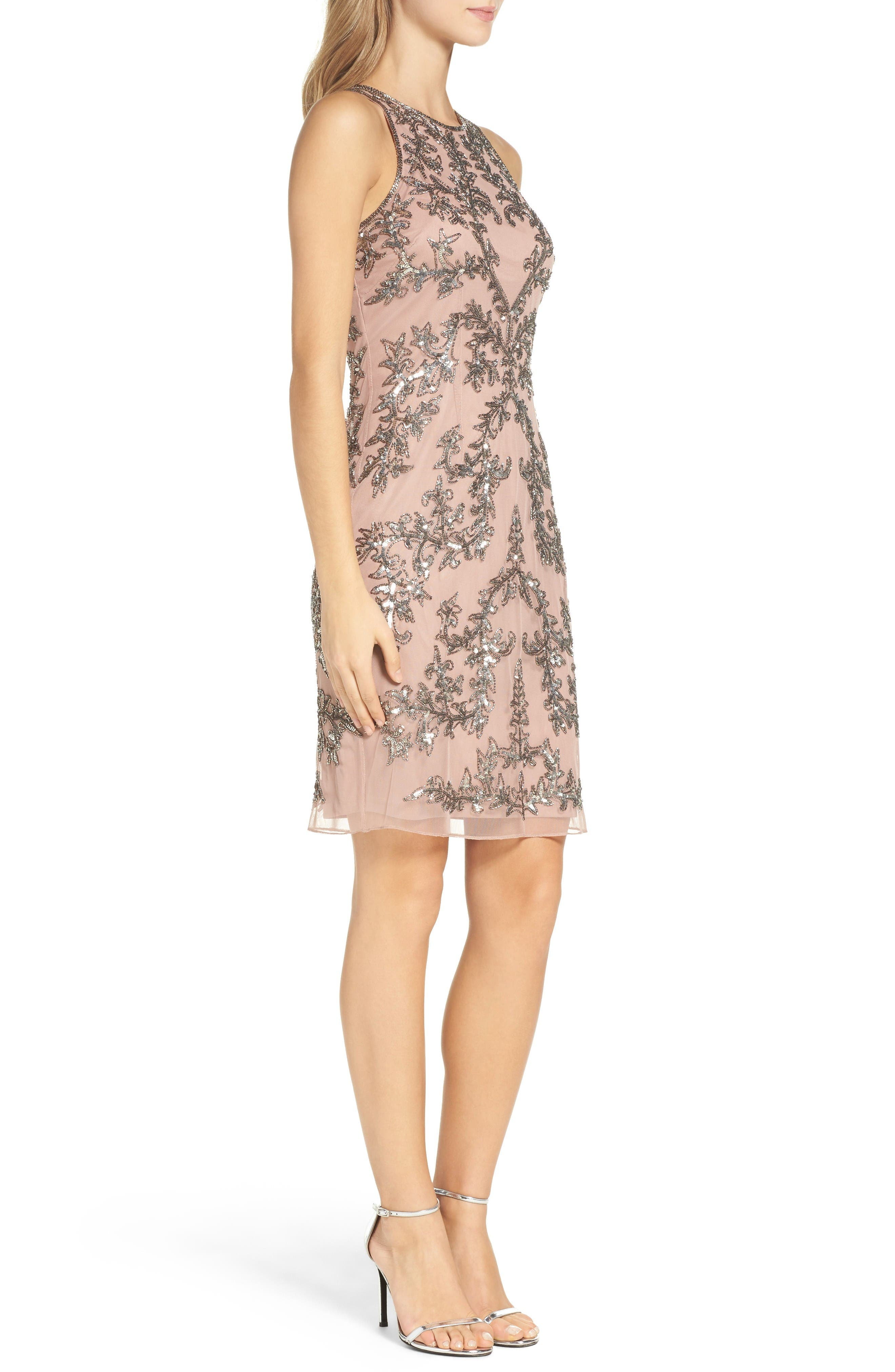 Alternate Image 3  - Adrianna Papell Embellished Chiffon Sheath Dress