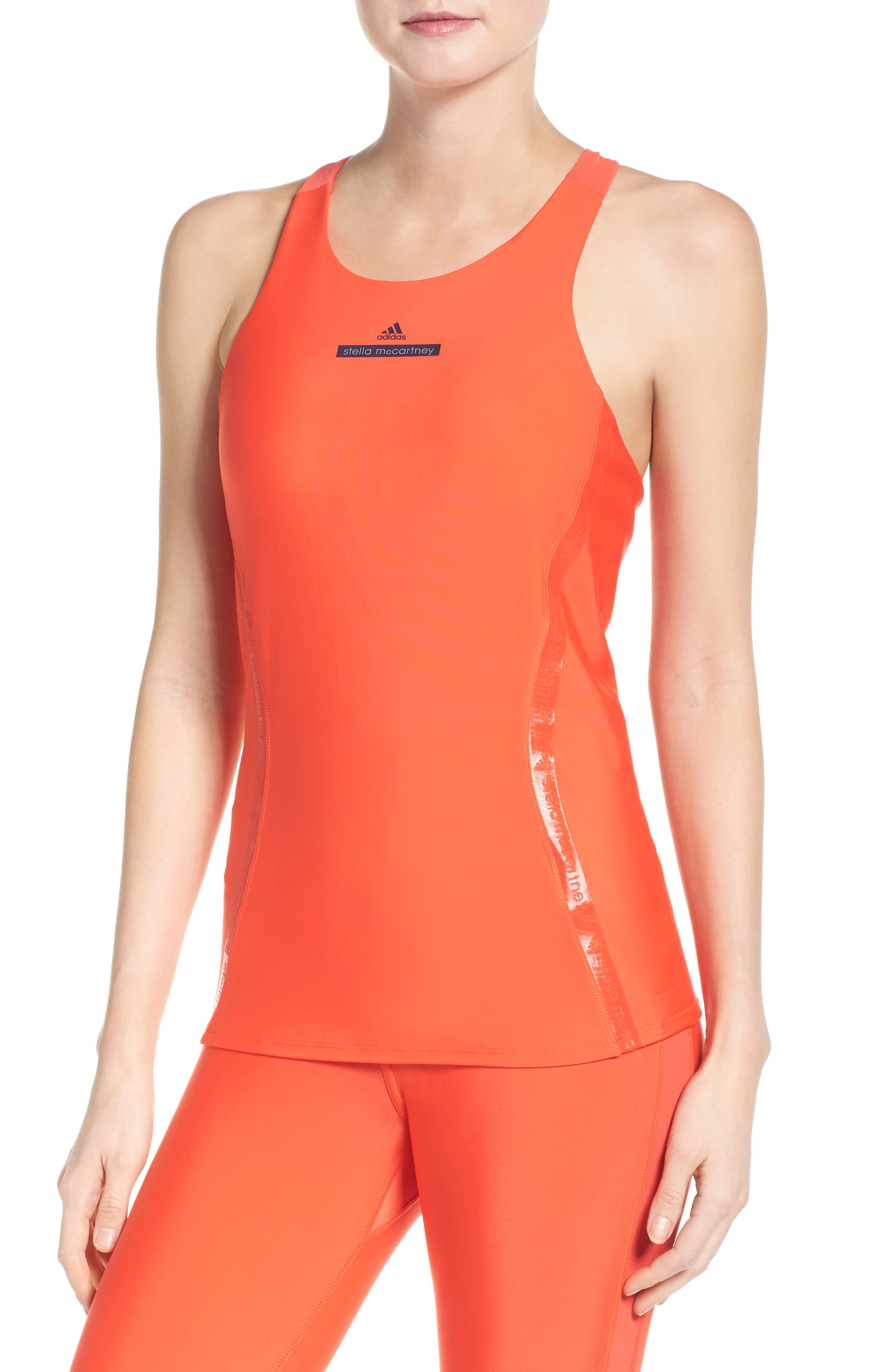 Run Tank with Built-in Bra,                         Main,                         color, Bright Red/ Bright Red