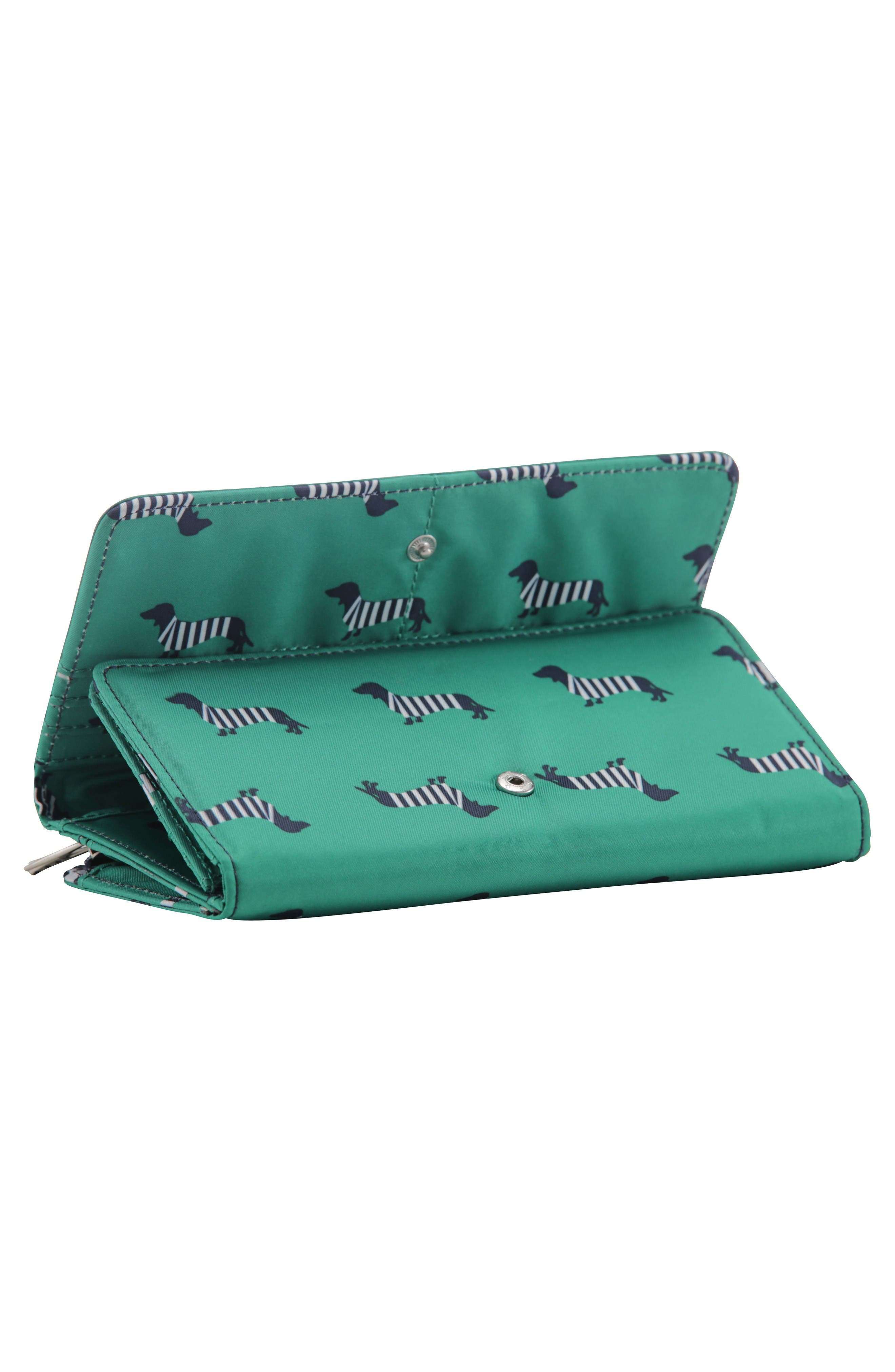 Be Rich - Coastal Collection Trifold Clutch Wallet,                             Alternate thumbnail 4, color,                             Coney Island