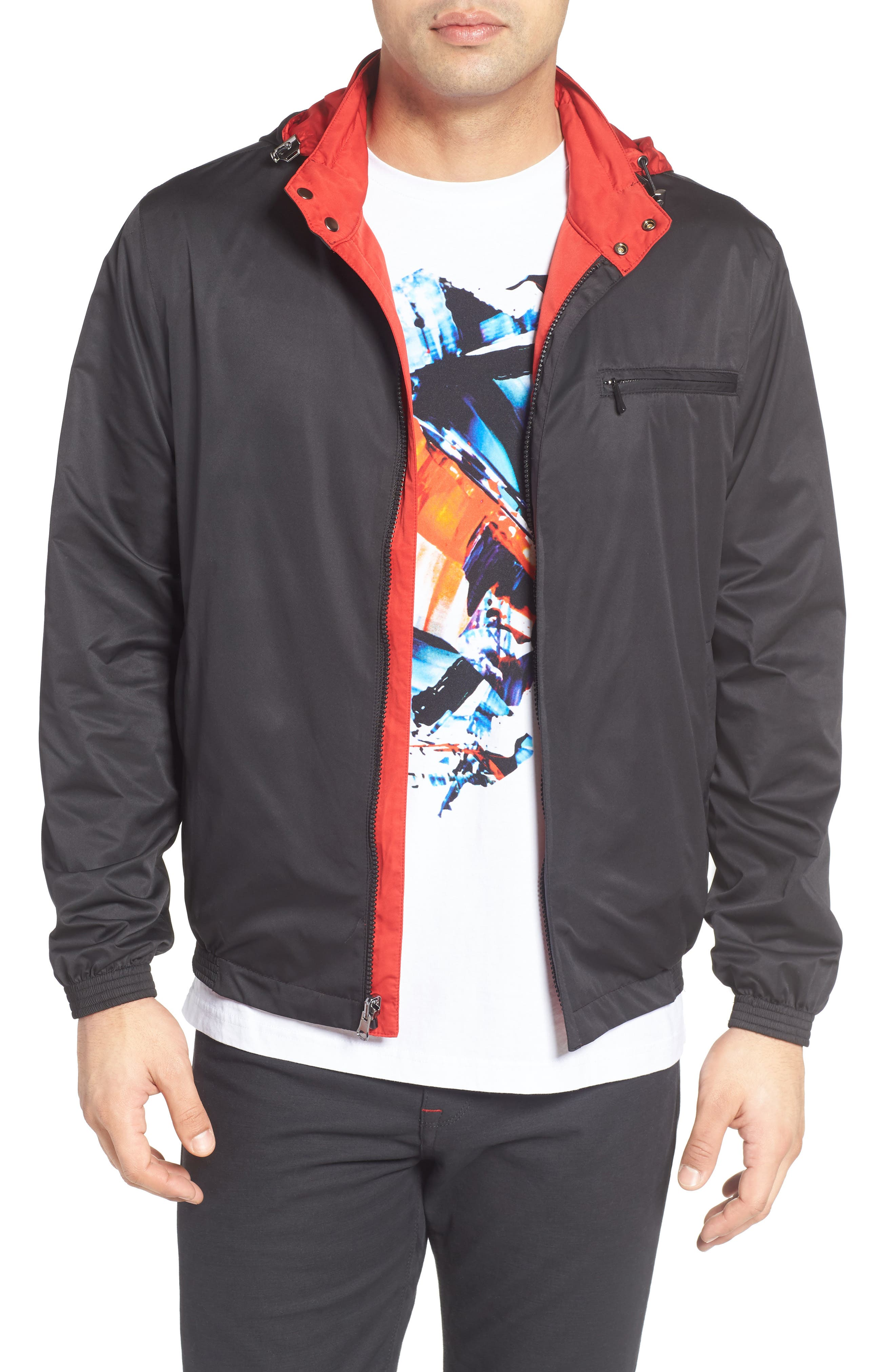 Reversible Jacket,                         Main,                         color, Black