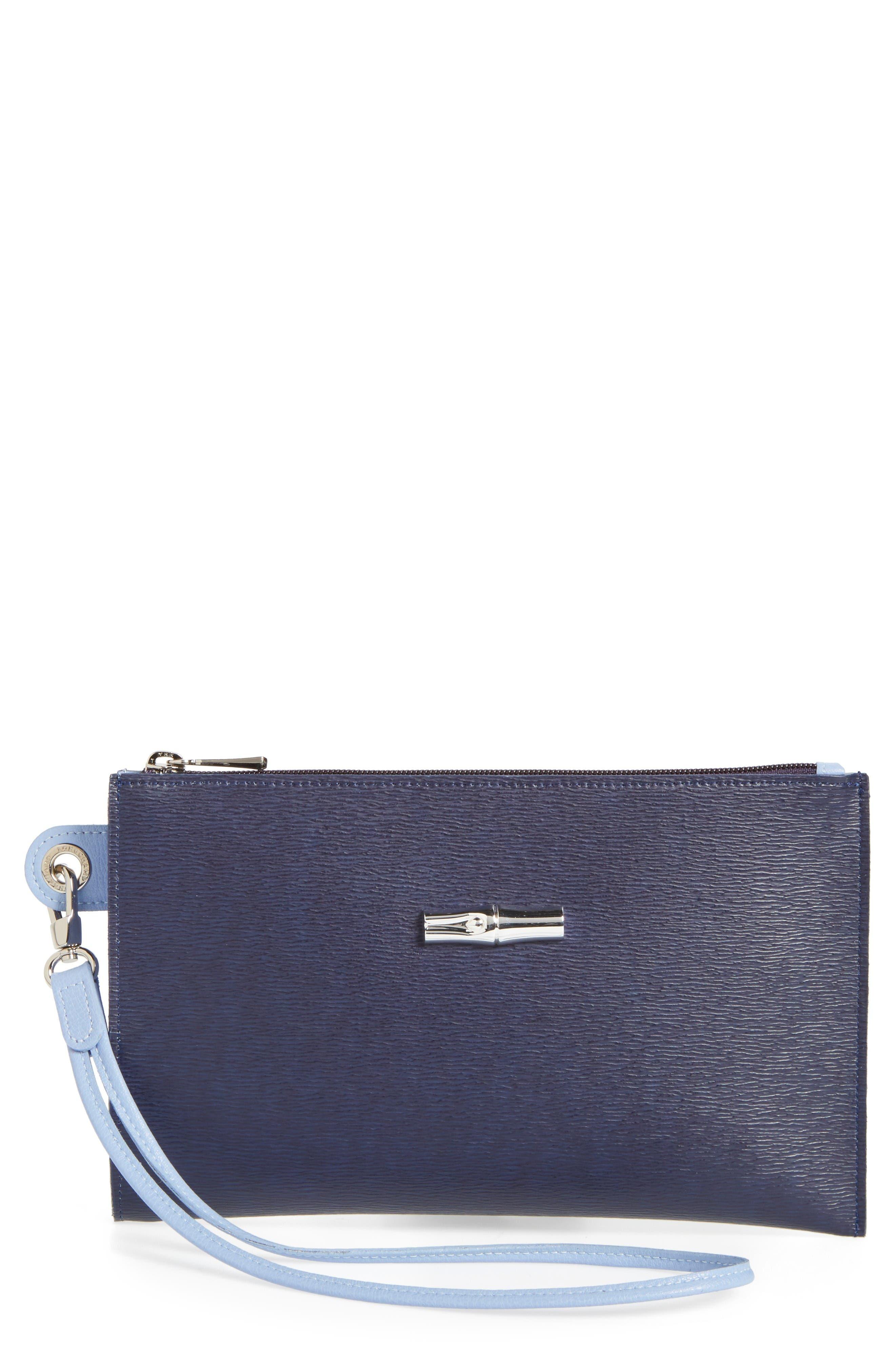 Longchamp Roseau Flat Cosmetics Case