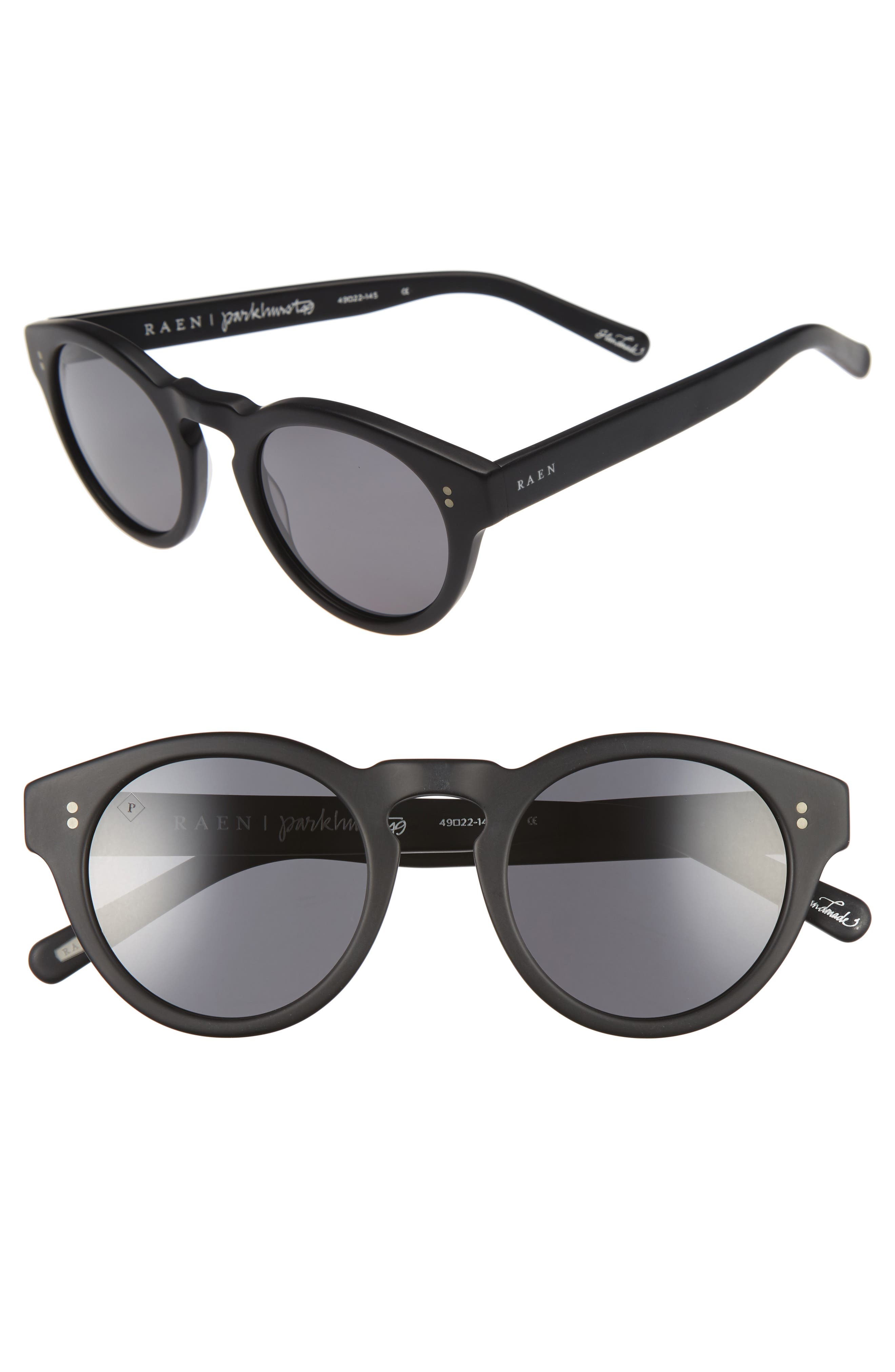 Parkhurst 49mm Sunglasses,                         Main,                         color, Matte Black