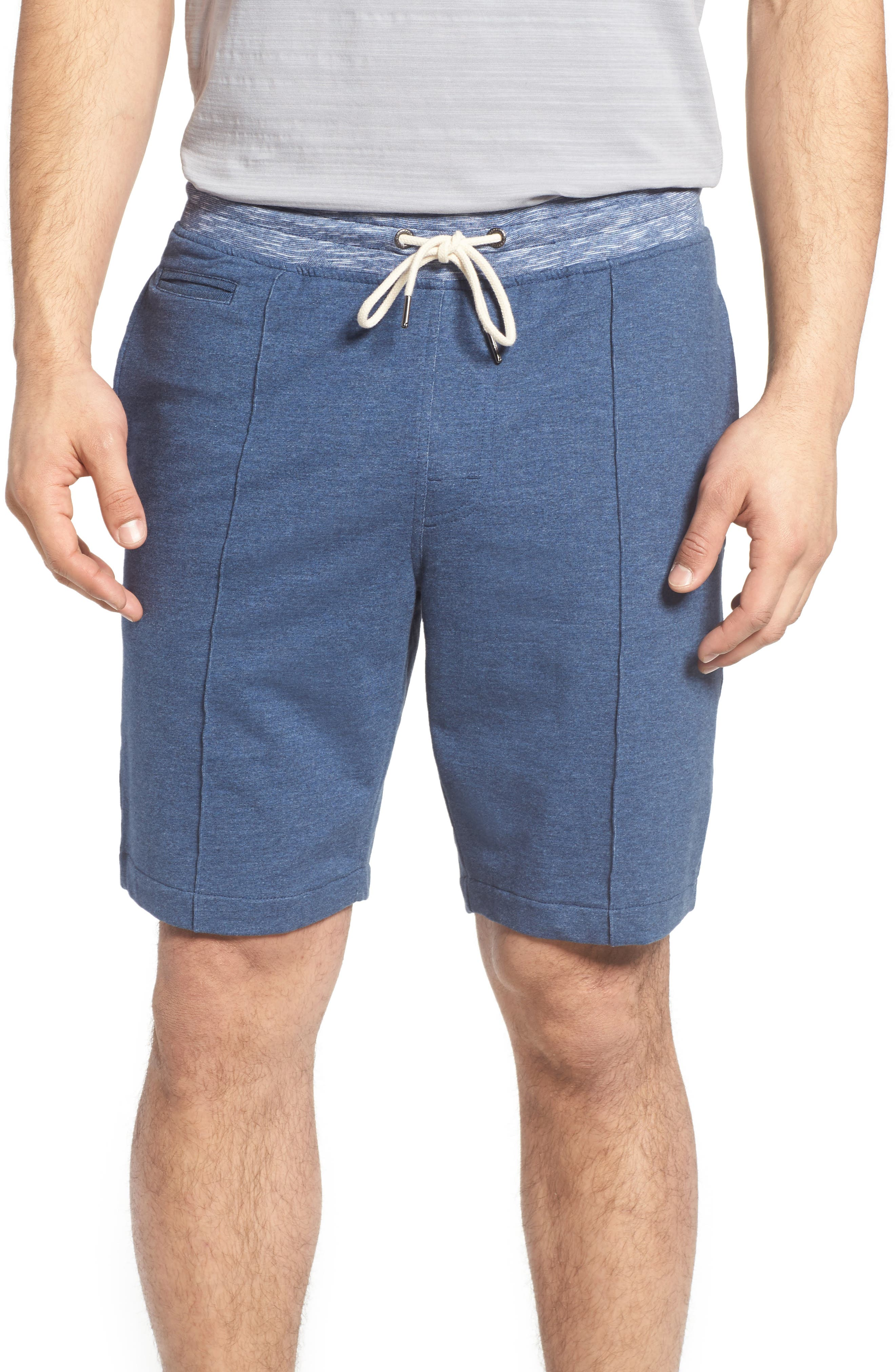 Wright French Terry Shorts,                         Main,                         color, Navy