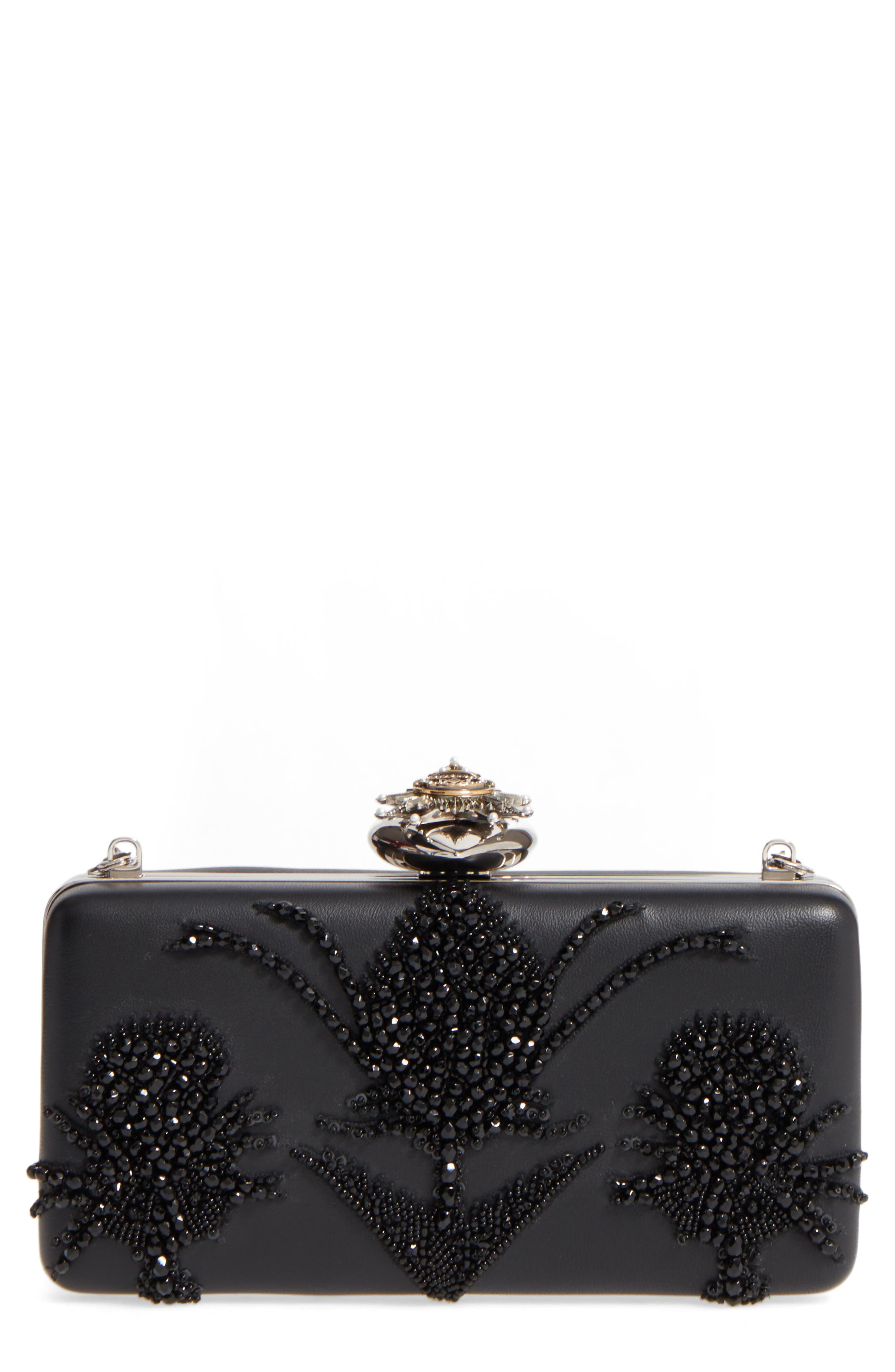 Alternate Image 1 Selected - Alexander McQueen Embellished Nappa Leather Clutch