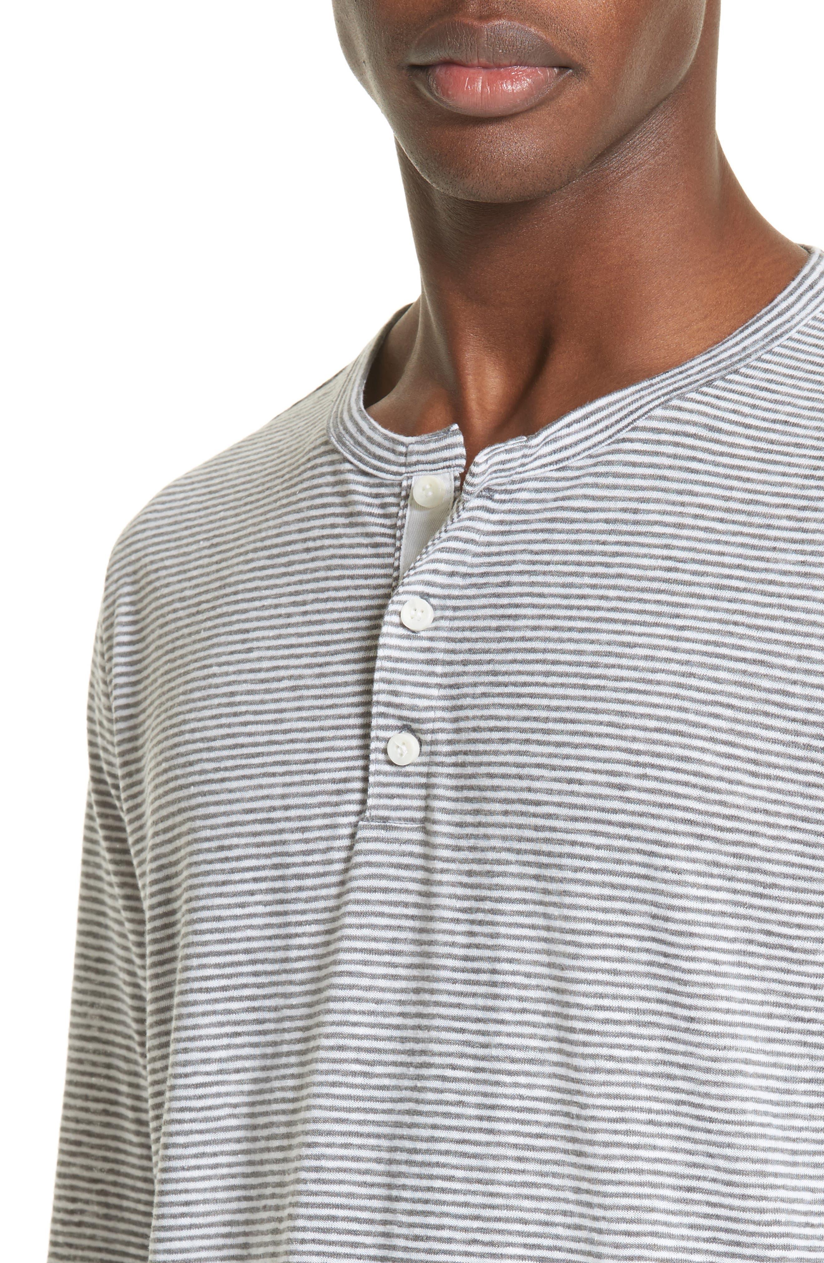 Alternate Image 4  - ONIA Linen Blend Stripe Henley