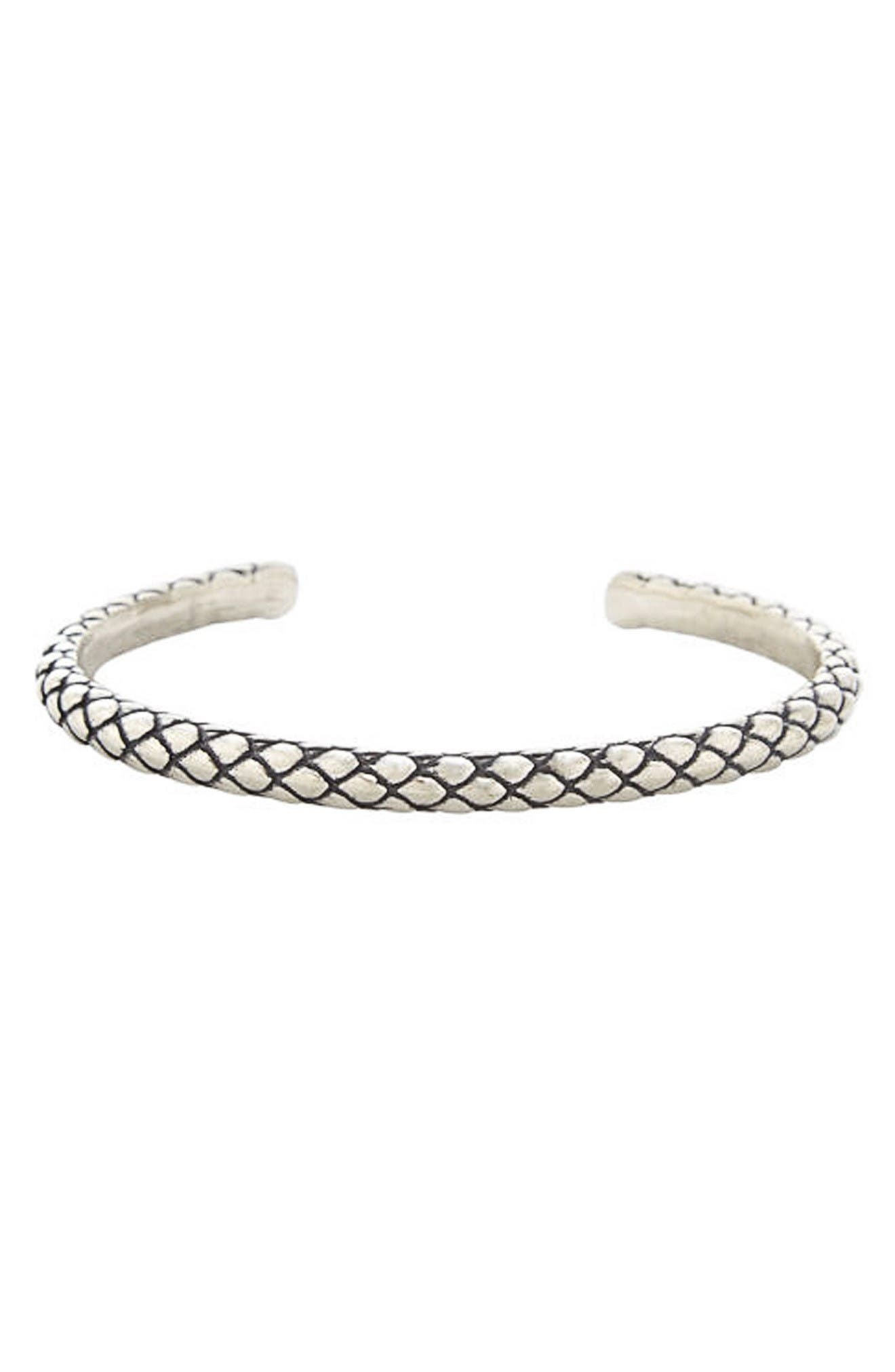 Stealth Cuff Bracelet,                         Main,                         color, Silver