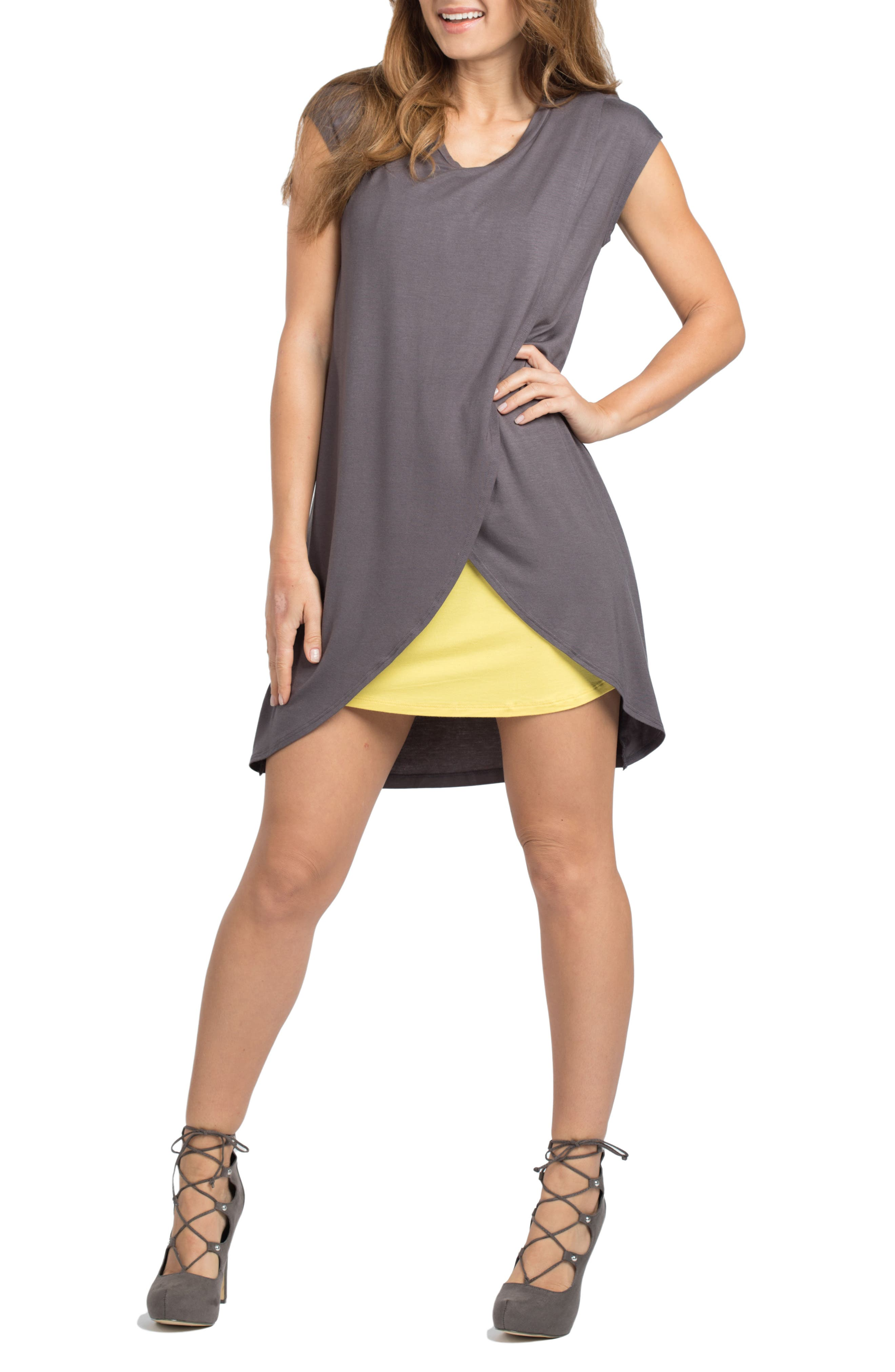 Alternate Image 3  - Savi Mom Lille Maternity/Nursing Tunic Dress