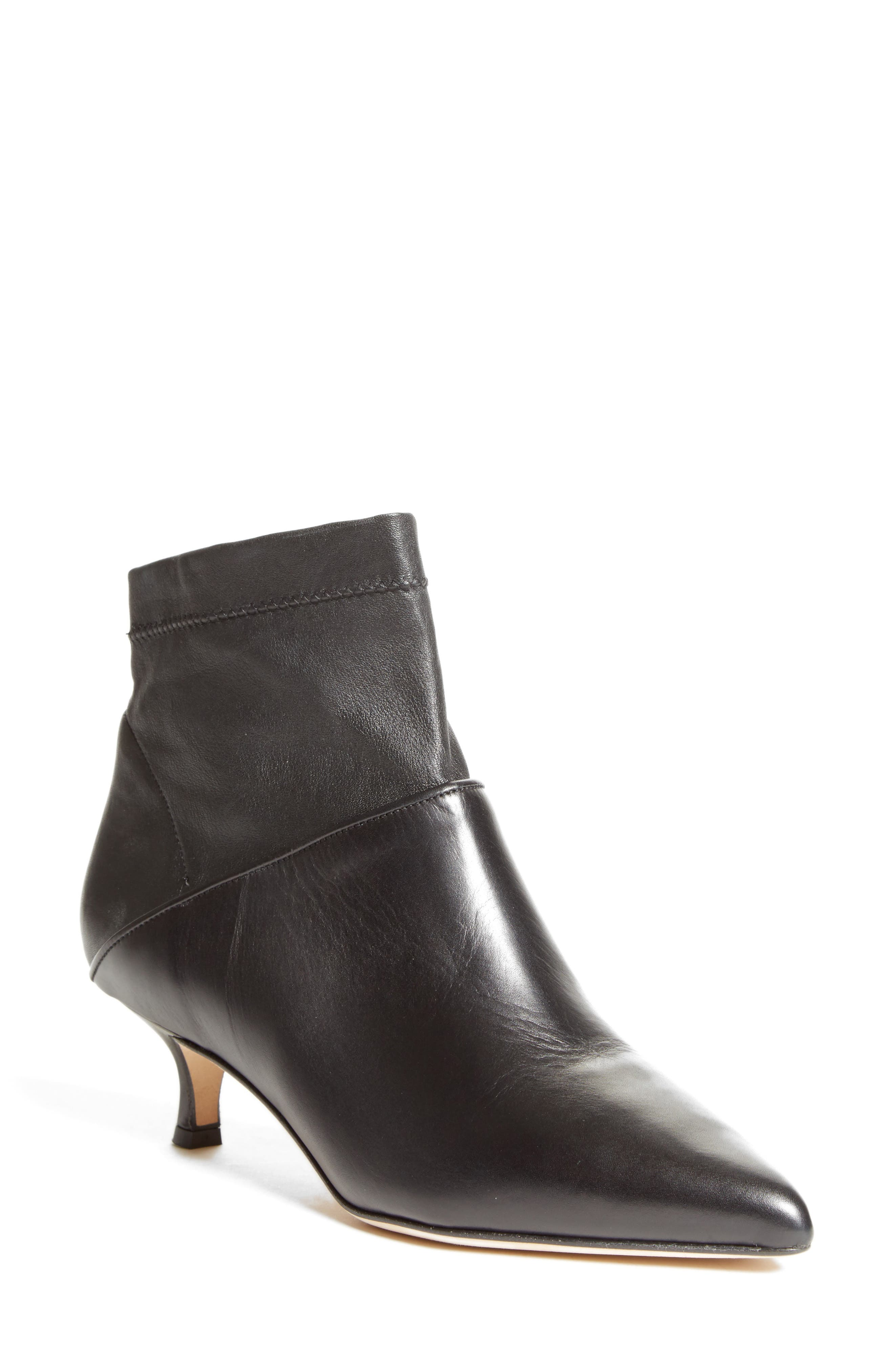 Jean Sock Shaft Bootie,                         Main,                         color, Black