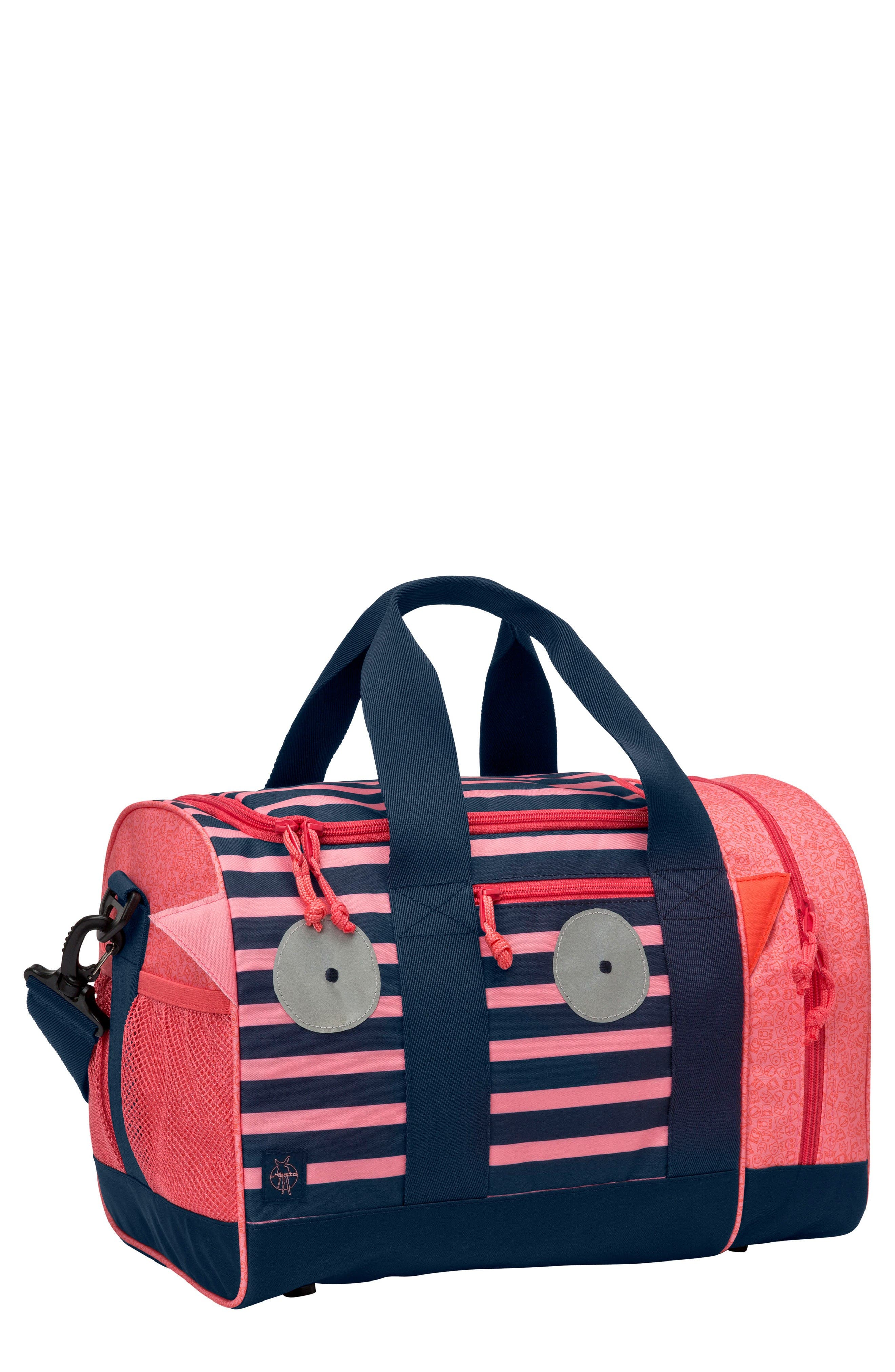 Mini Sports Bag with Glow-in-the-Dark Eyes,                             Main thumbnail 1, color,                             Mad Mabel