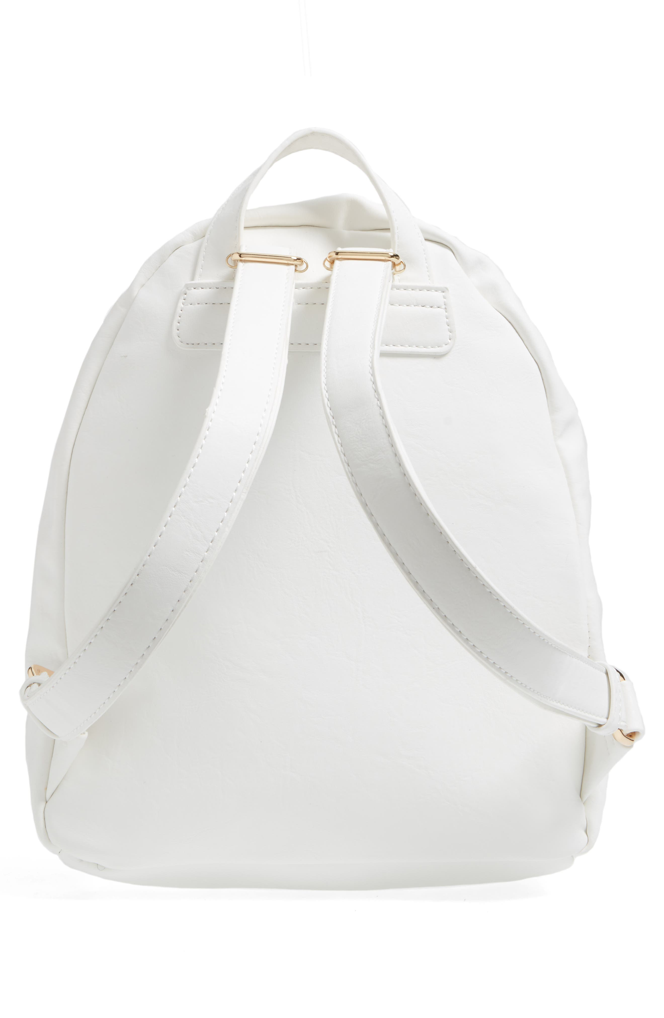 Alternate Image 3  - BP. Graphic Faux Leather Backpack