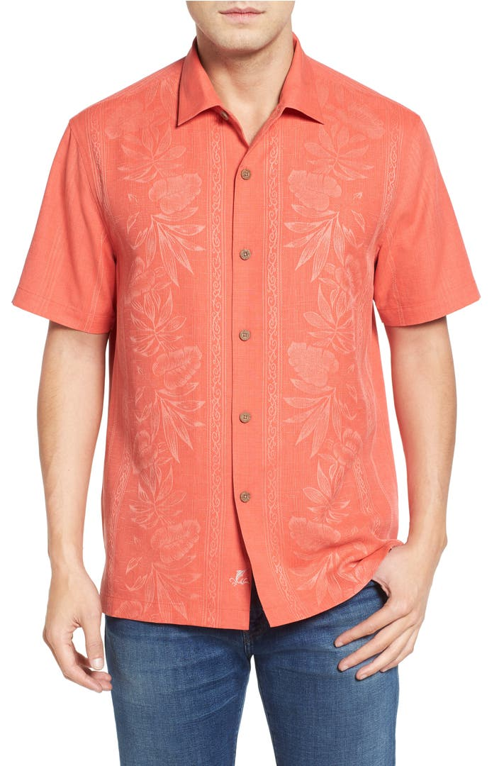 Tommy Bahama Pacific Floral Silk Camp Shirt Nordstrom
