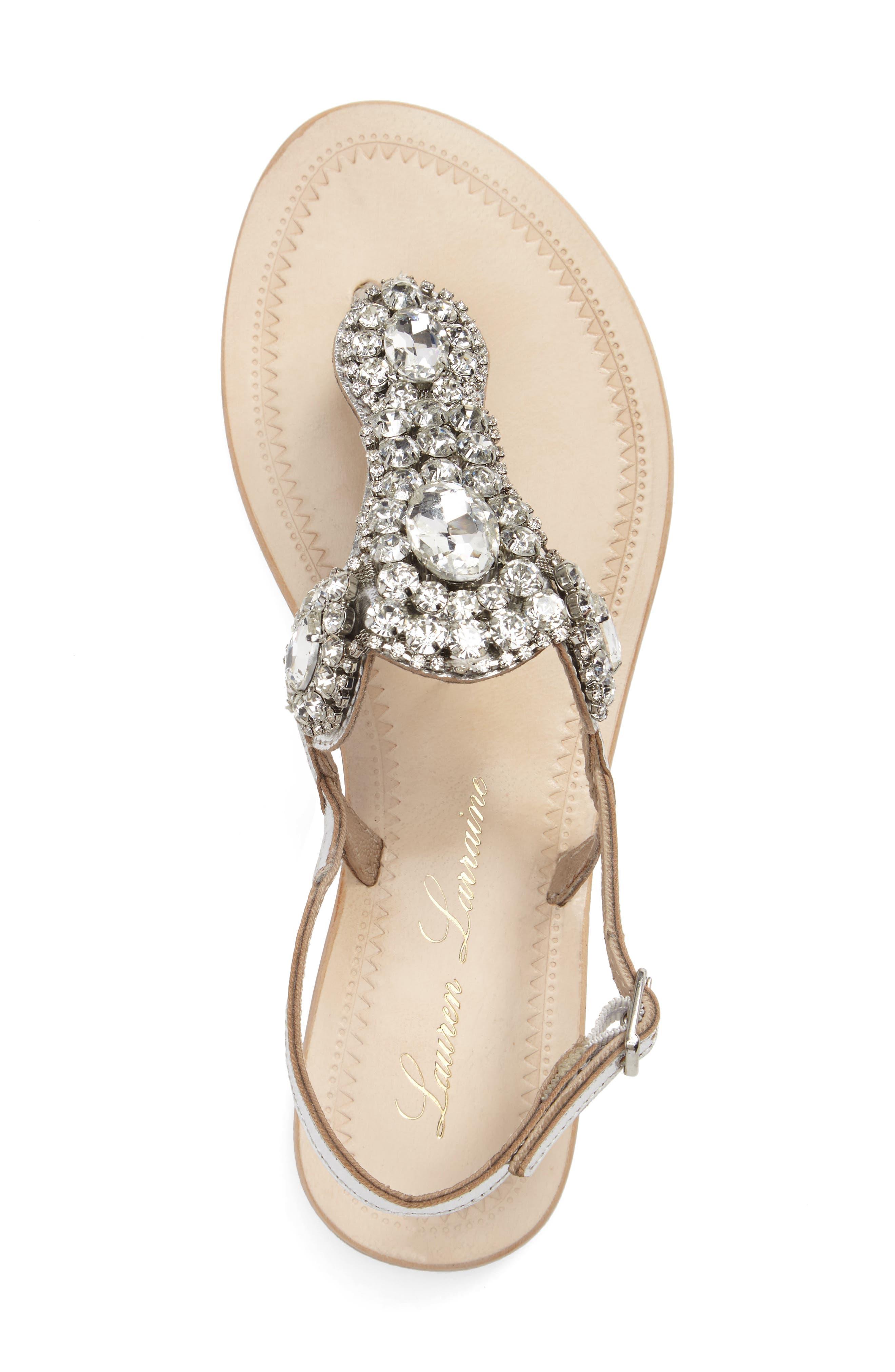 Alternate Image 5  - Lauren Lorraine Bahama Crystal Embellished Sandal (Women)