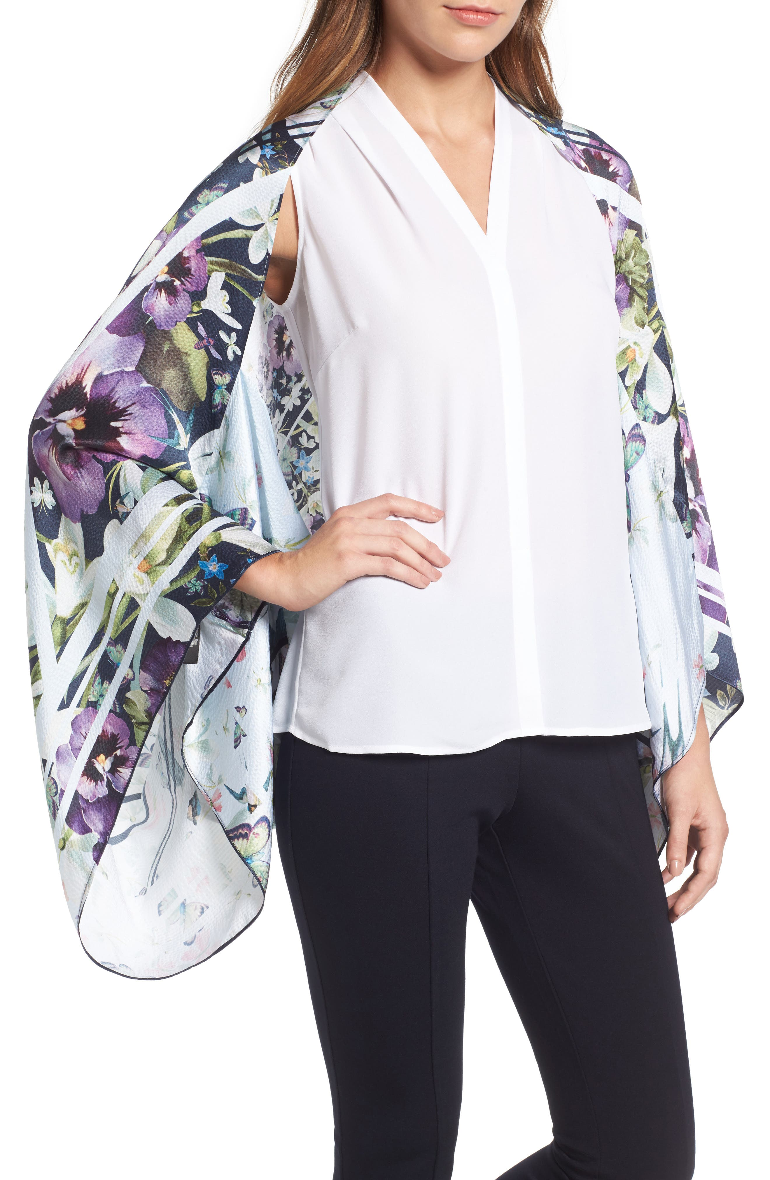 Alternate Image 1 Selected - Ted Baker London Elva Enchantment Cape Scarf