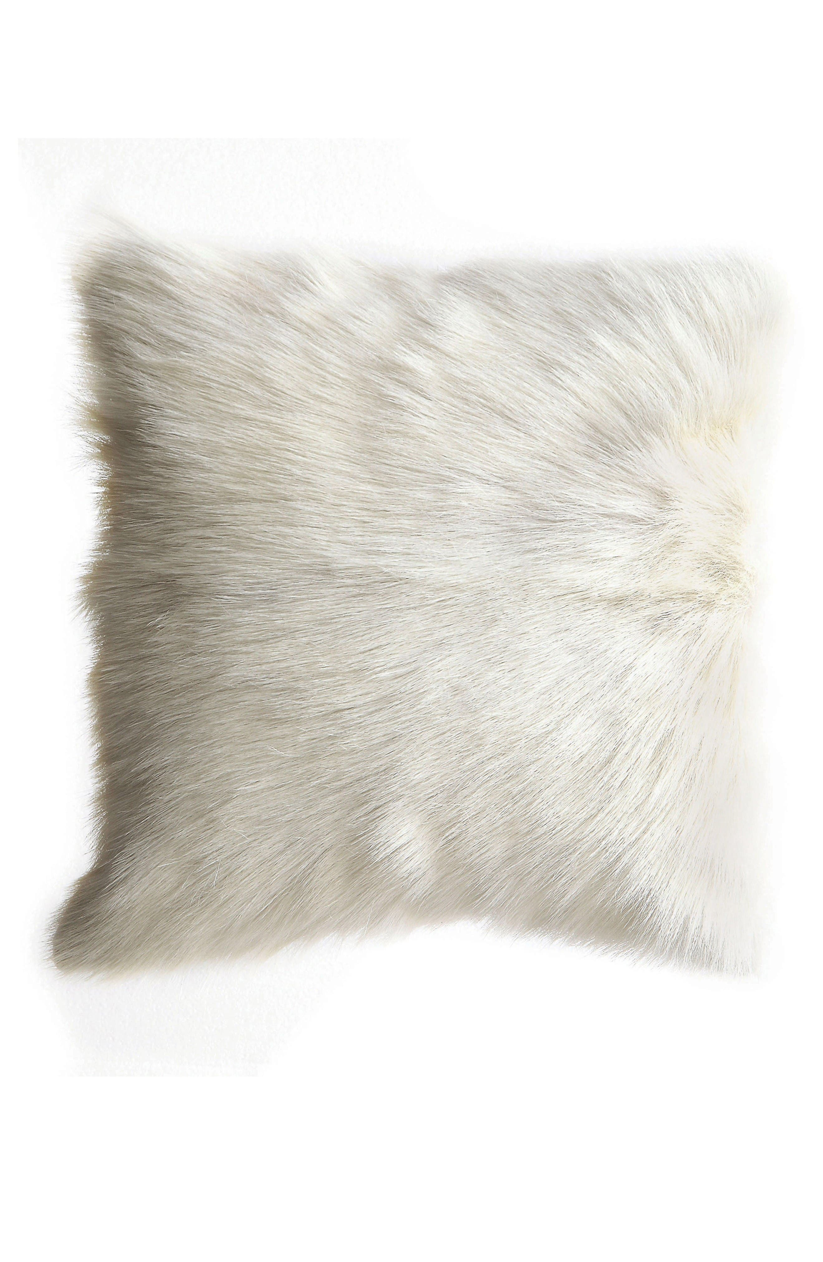 Creative Co-Op Genuine Goat Hair Accent Pillow
