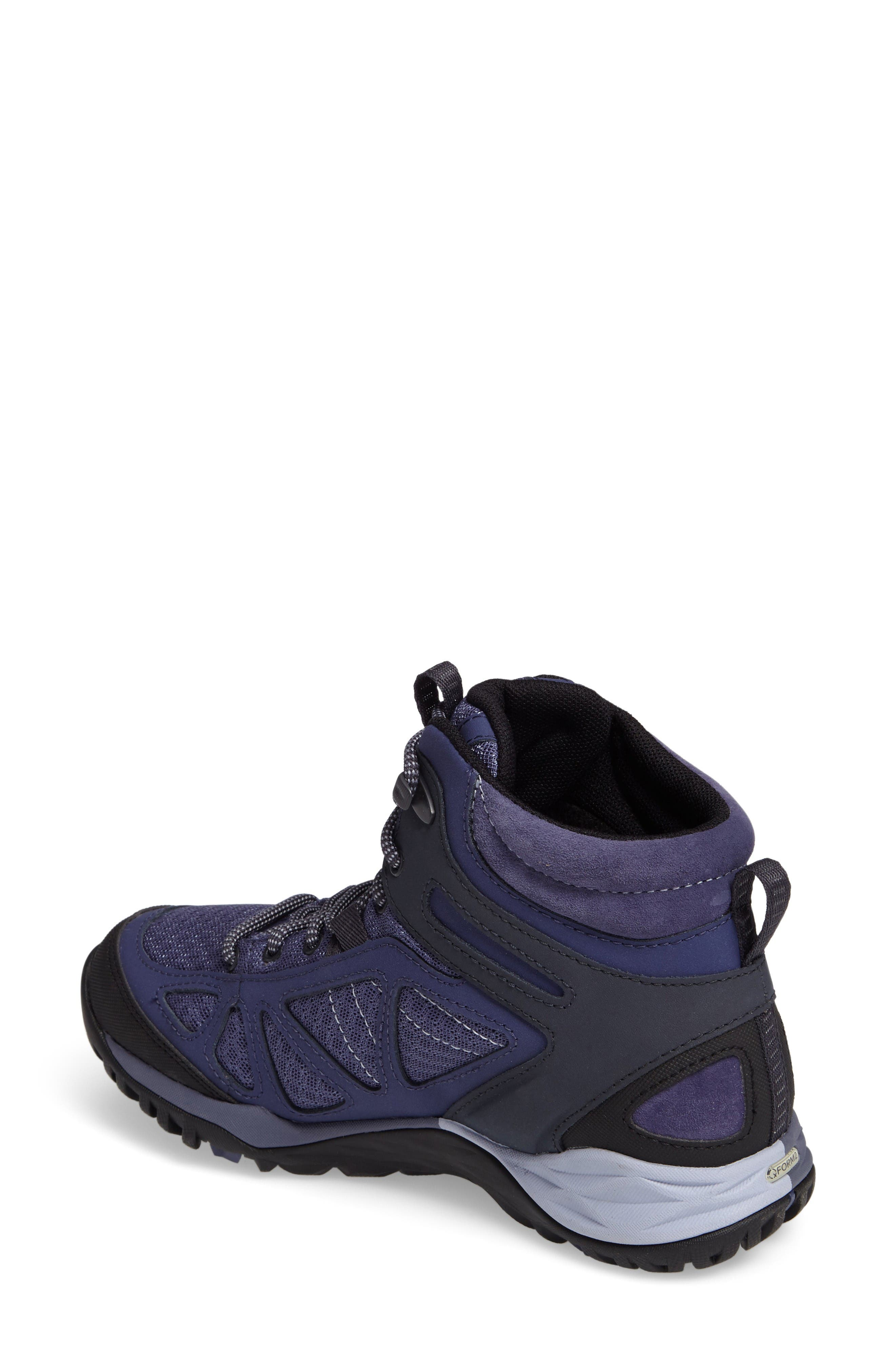 Siren Sport Q2 Waterproof Mid Top Sneaker,                             Alternate thumbnail 2, color,                             Crown Blue Nubuck Leather
