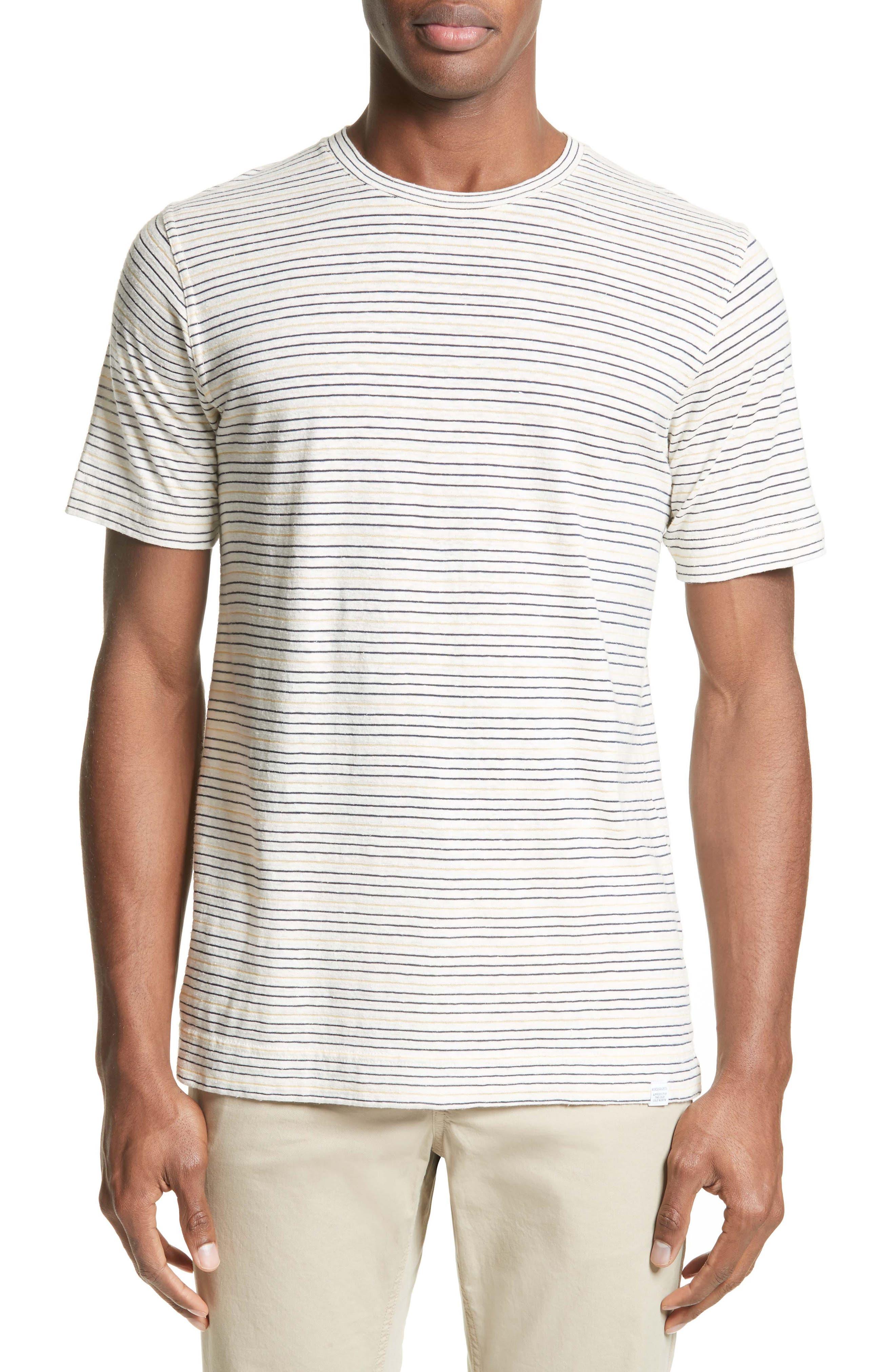 Stripe T-Shirt,                         Main,                         color, Dried Olive/ Ecru