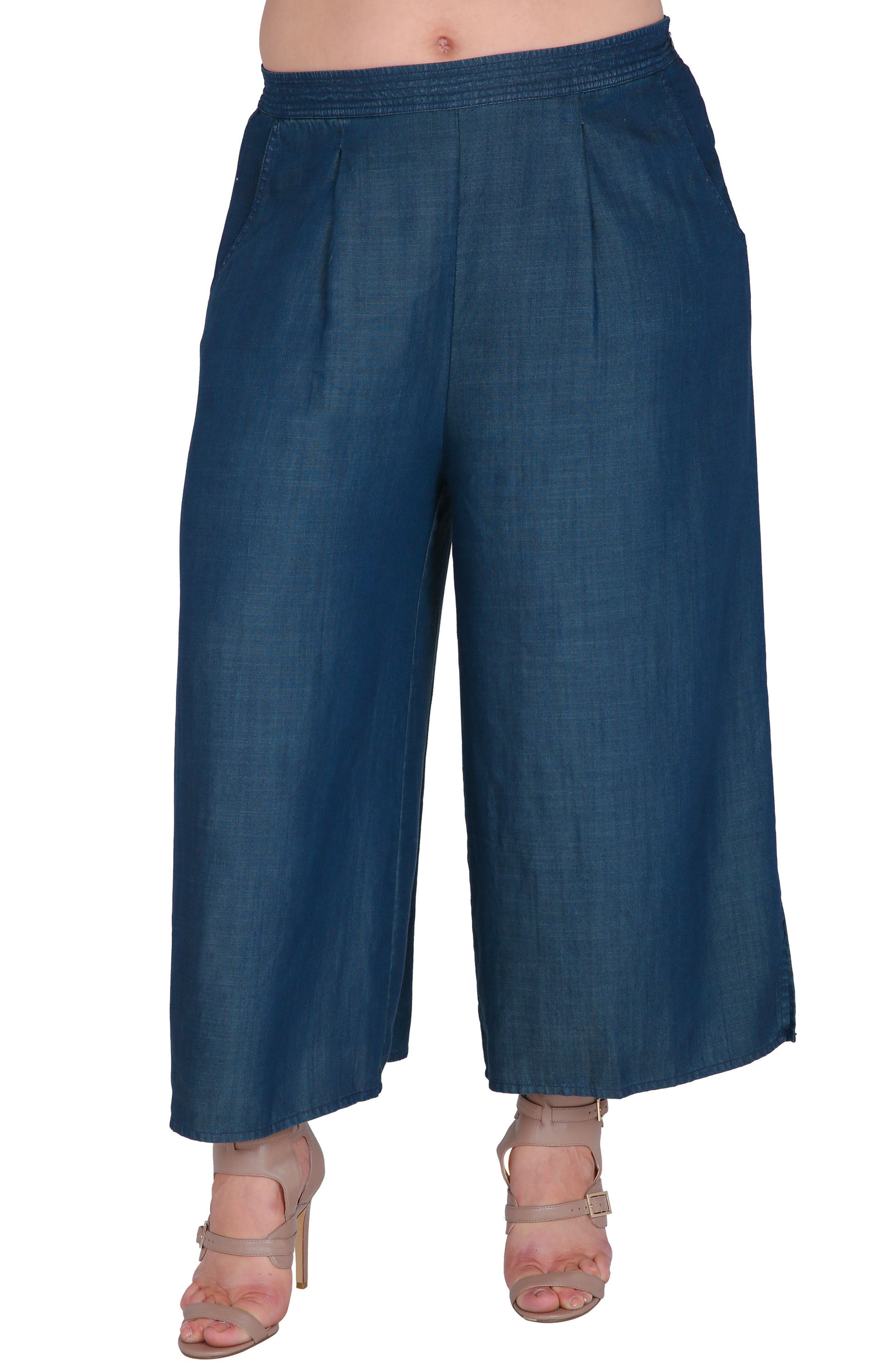 Main Image - Standards & Practices Diana Tencel® Palazzo Pants (Plus Size)