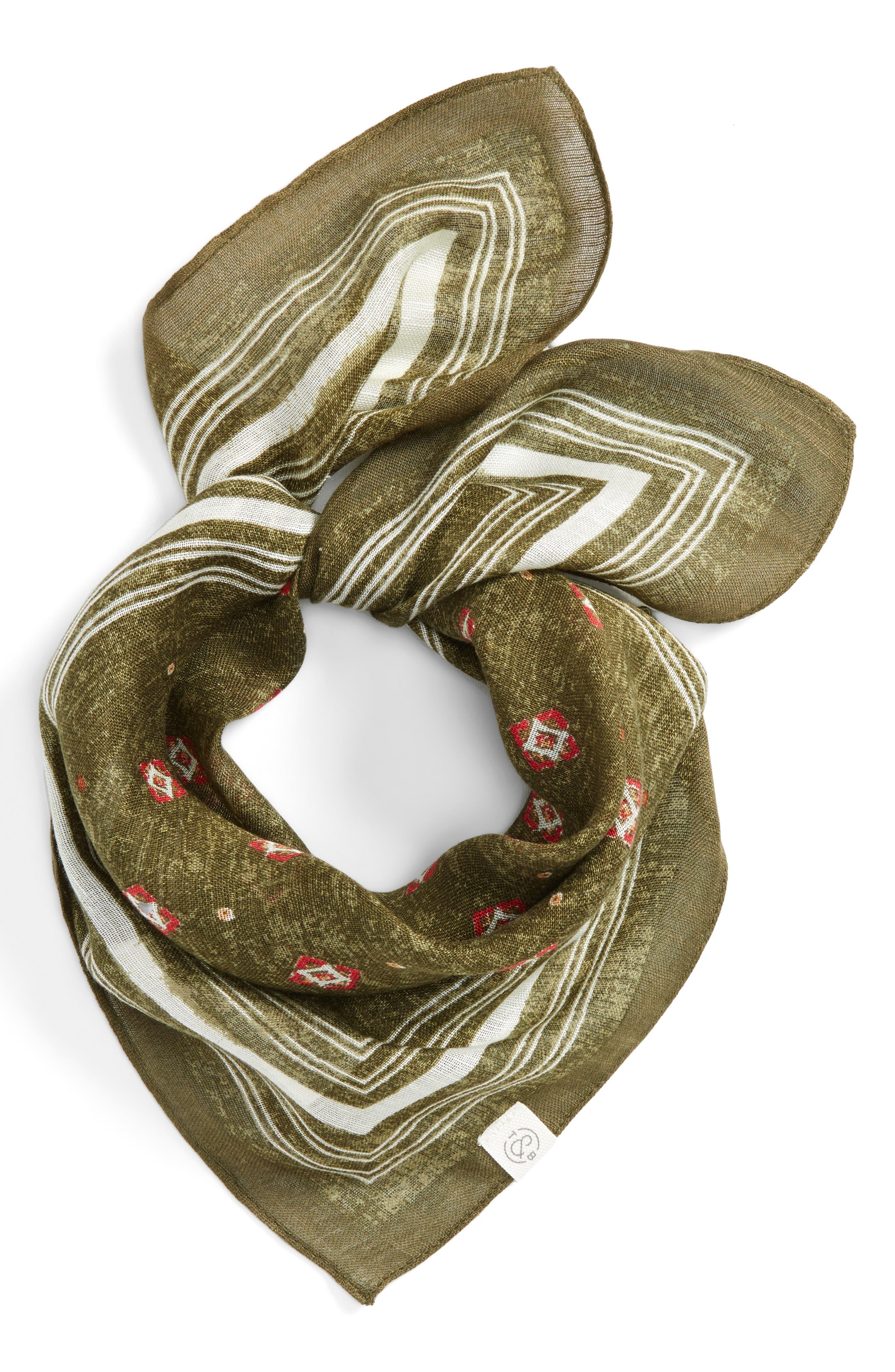 Foulard Bandana,                         Main,                         color, Olive Combo