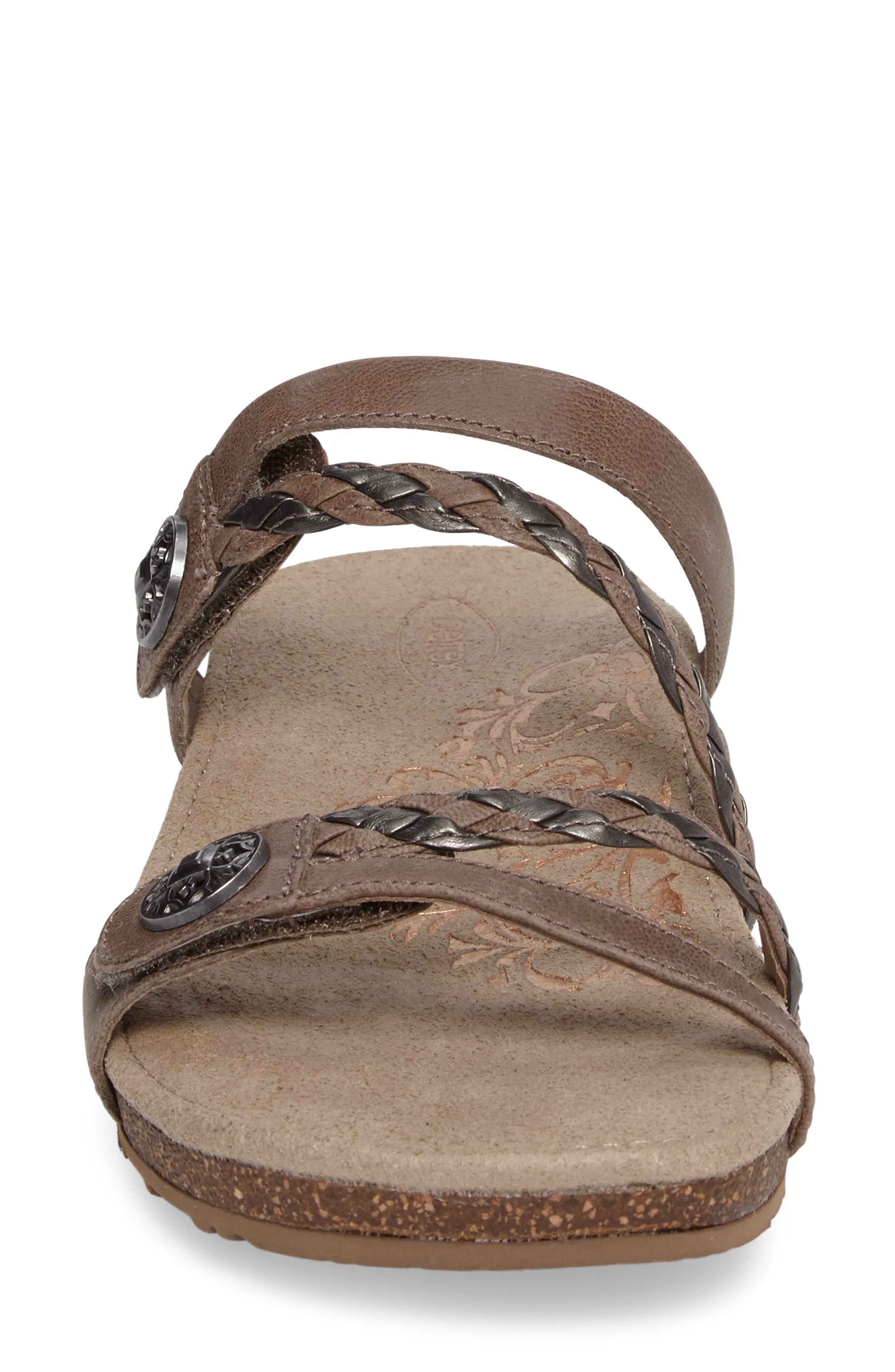 Alternate Image 4  - Aetrex Janey Braided Slide Sandal (Women)