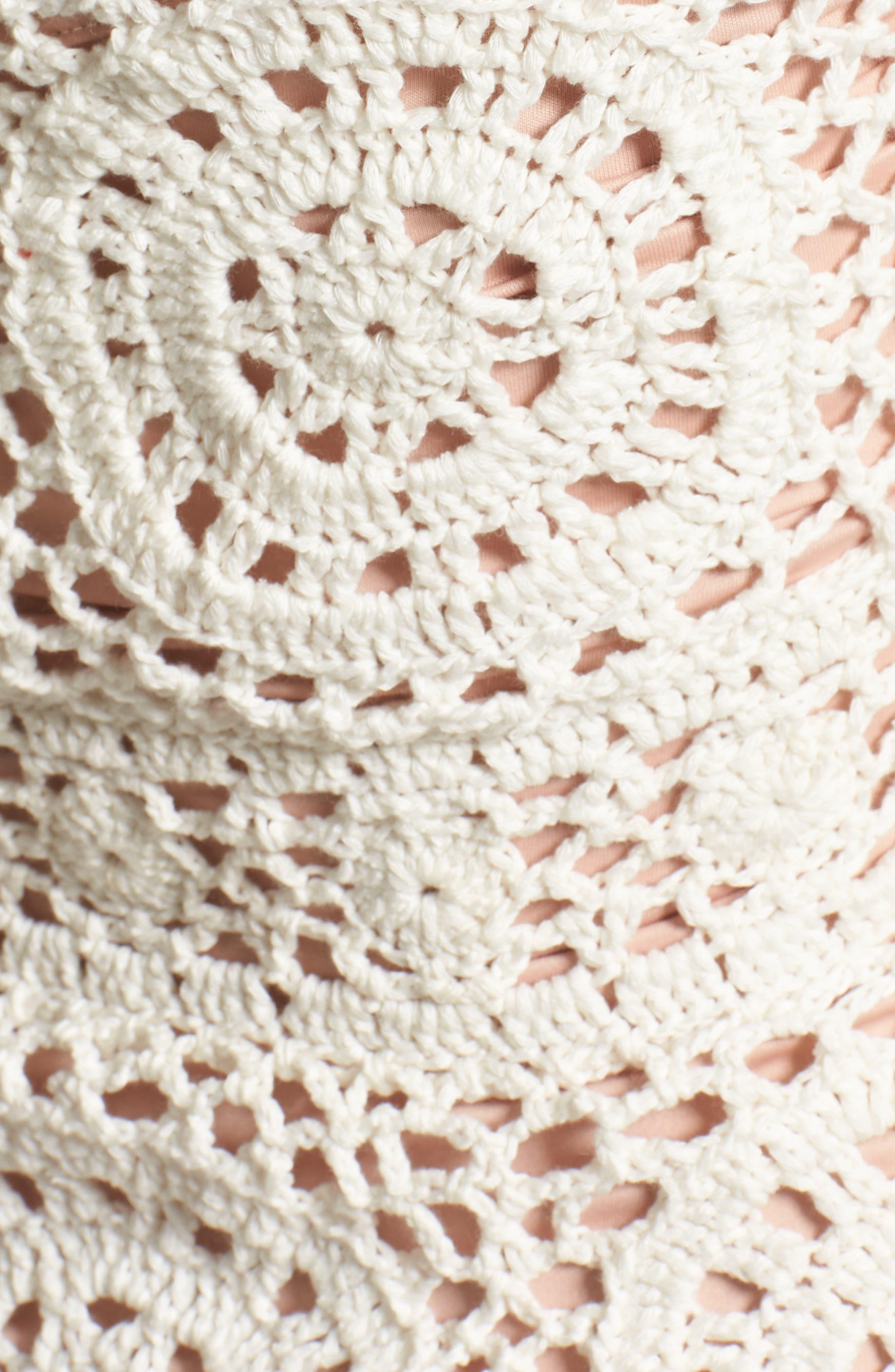 Alternate Image 5  - Majorelle Harvest Crochet Minidress