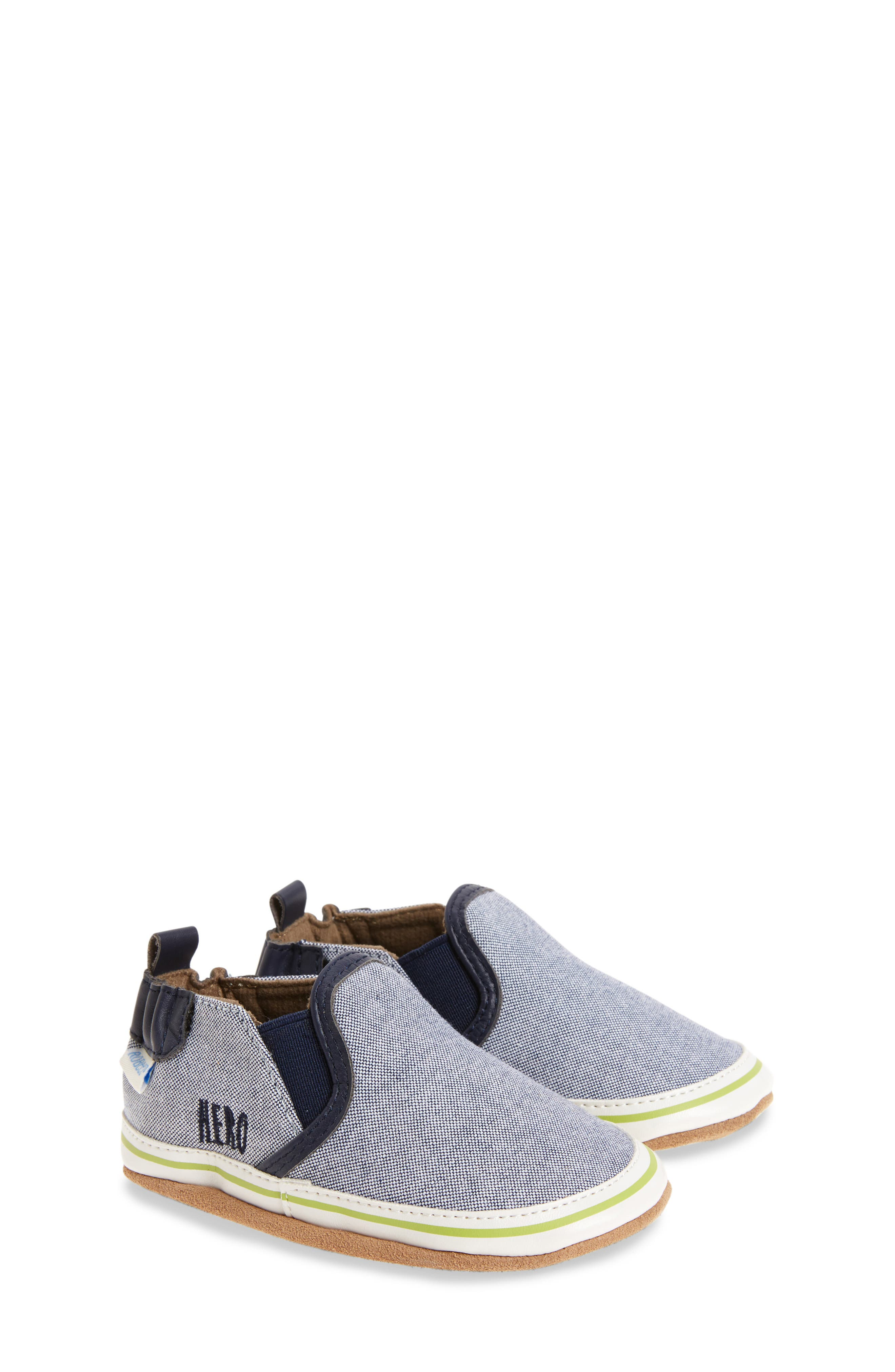 Robeez® Liam Cool Dude Crib Shoe (Baby & Walker)