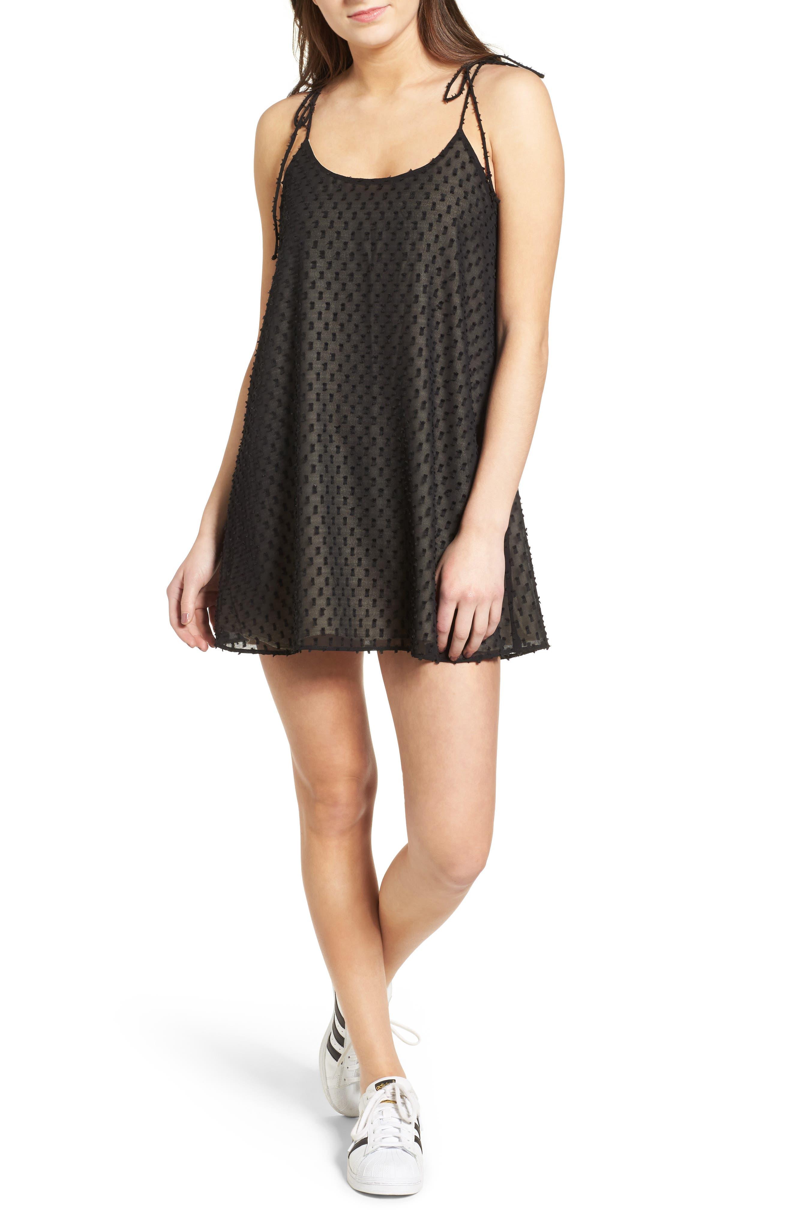 Alyssa Minidress,                             Main thumbnail 1, color,                             Black