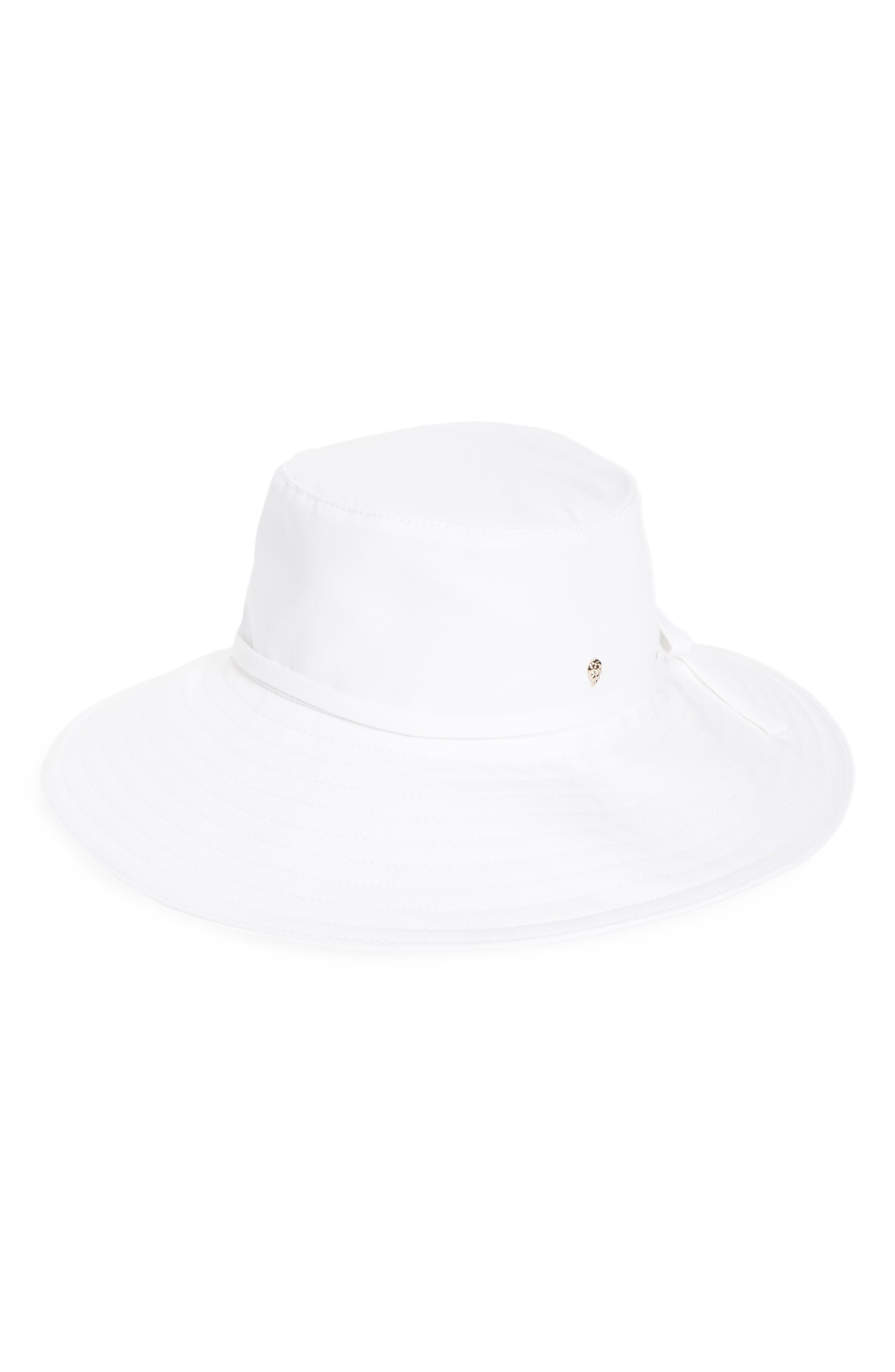 Breeja Wide Brim Bucket Hat,                             Main thumbnail 1, color,                             White