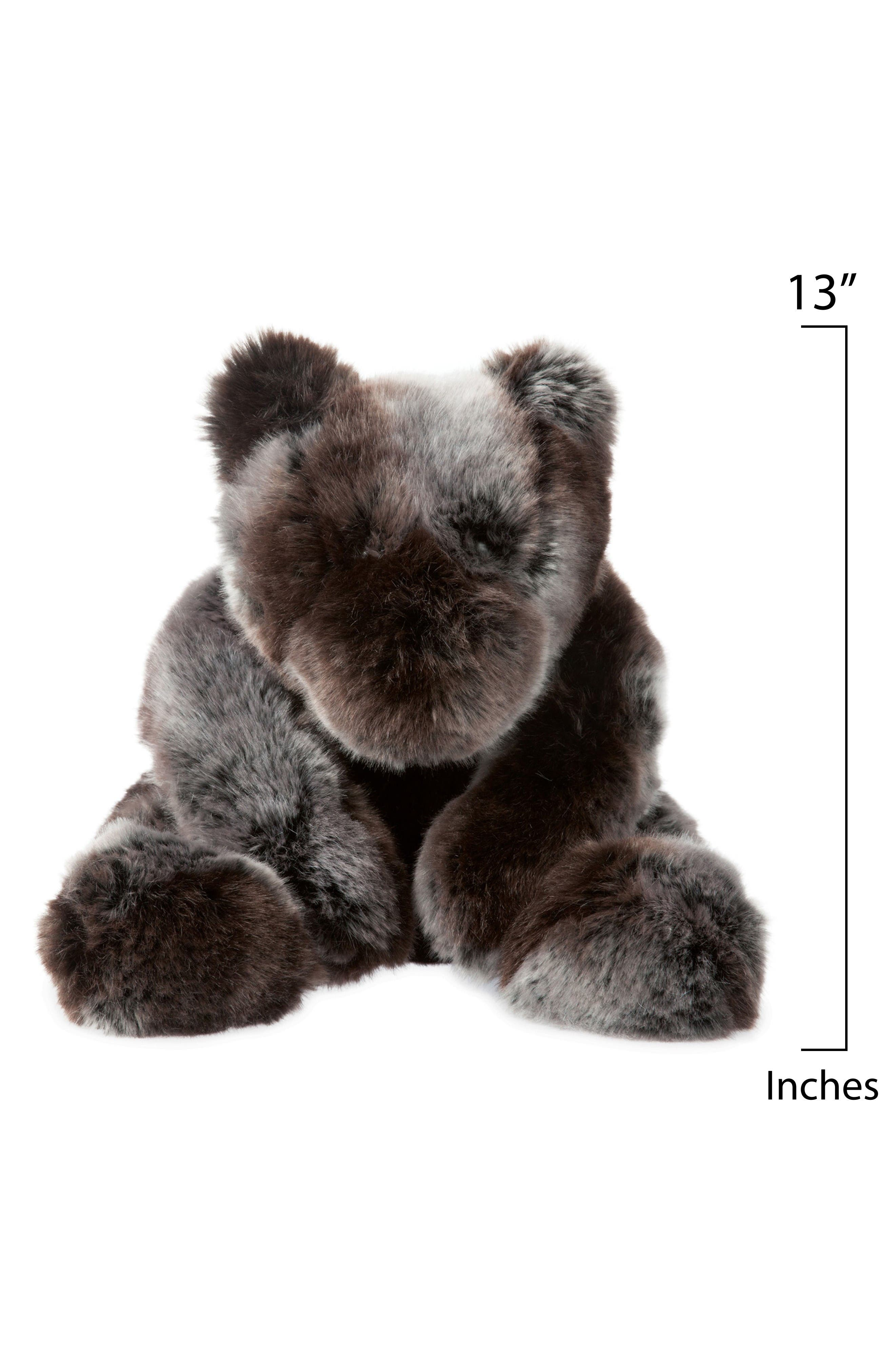Luxe Sable Bear Stuffed Animal,                             Alternate thumbnail 3, color,                             Brown