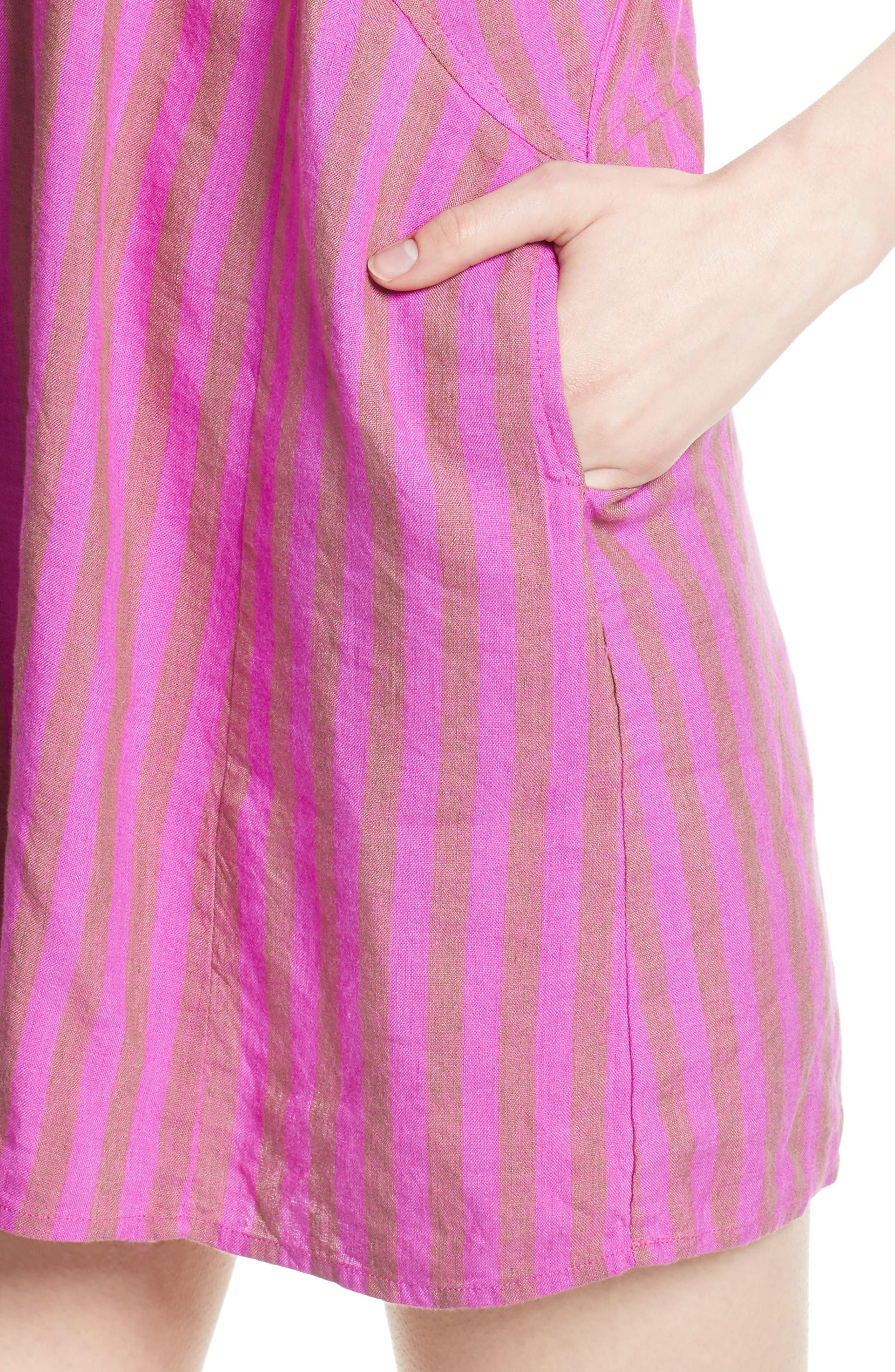 Folk Town Minidress,                             Alternate thumbnail 4, color,                             Purple Combo