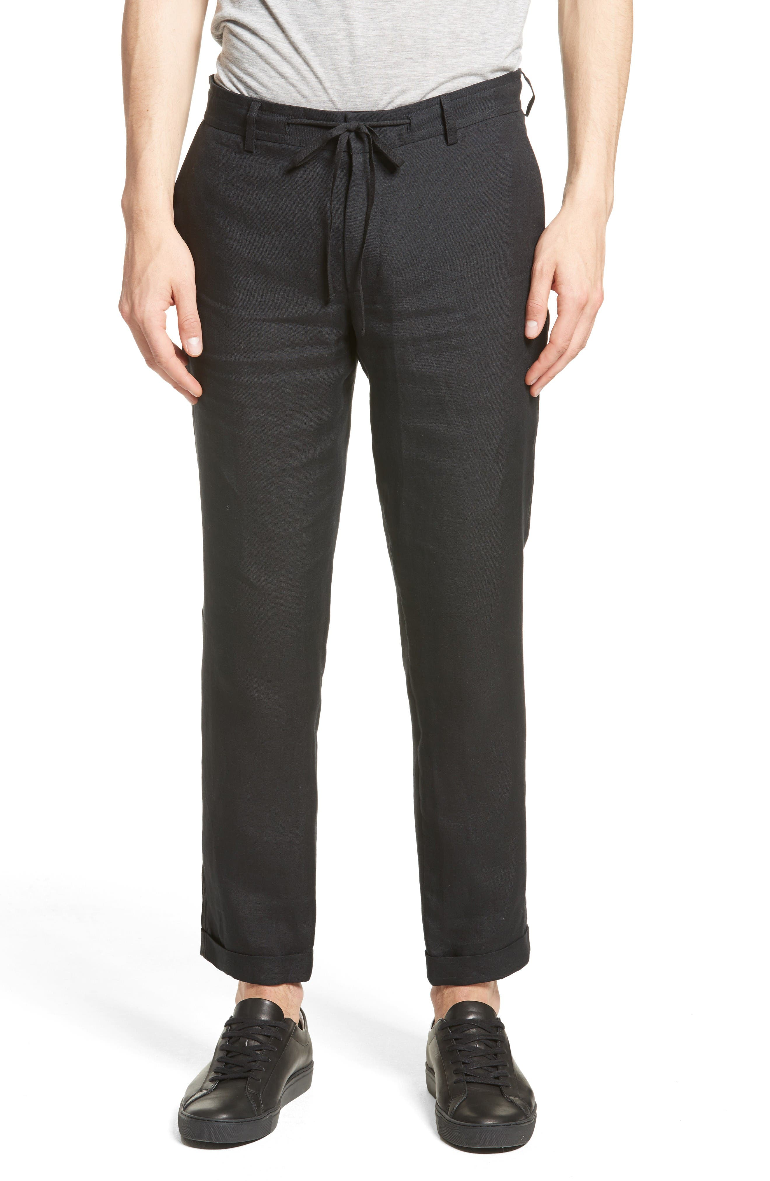 Main Image - The Kooples Relaxed Fit Linen Pants