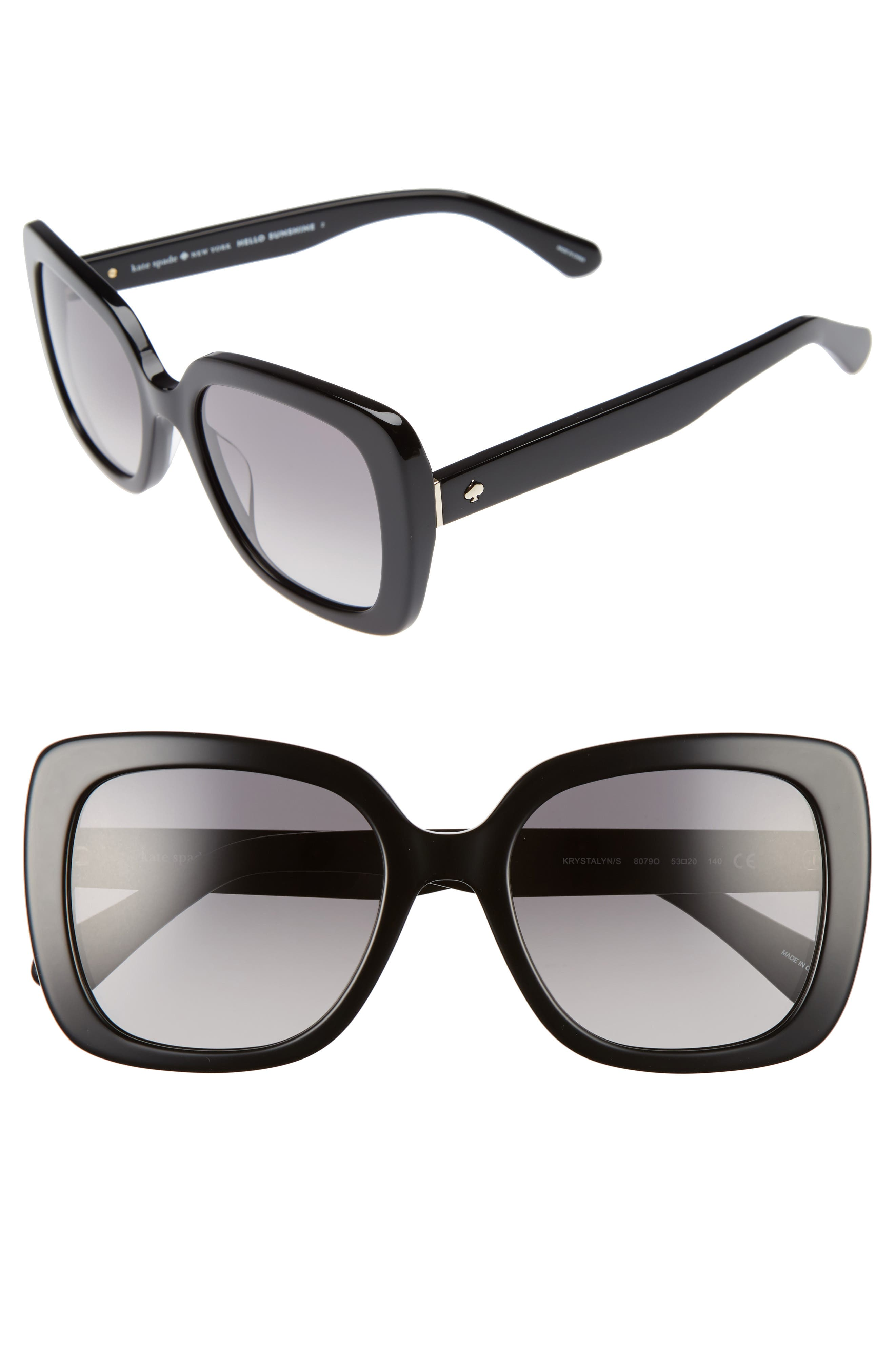 KATE SPADE NEW YORK krystalyn 53mm Sunglasses