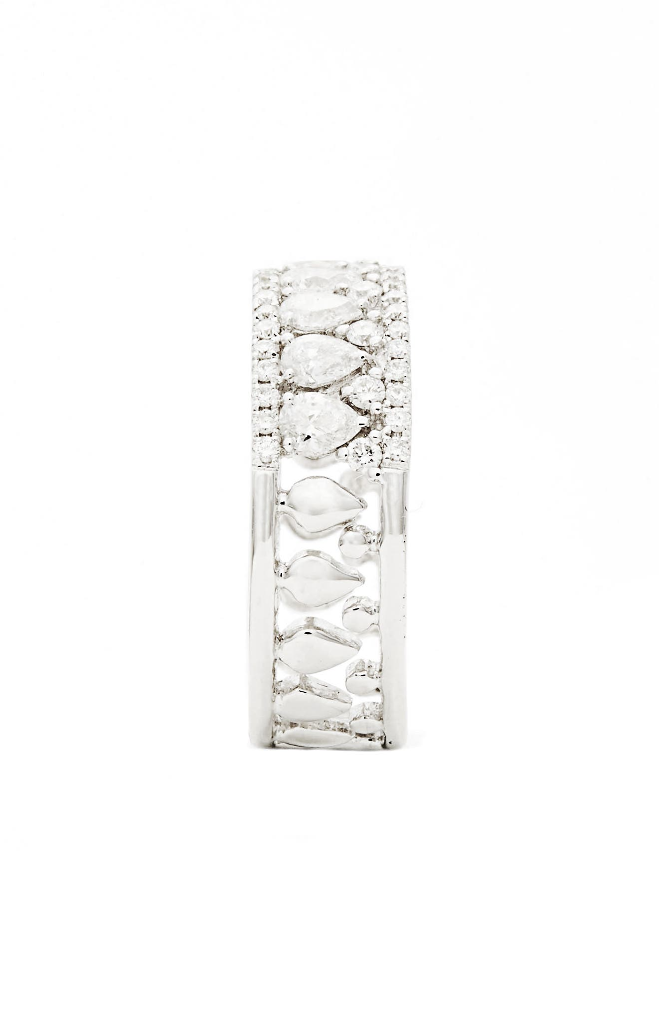 Alternate Image 2  - Bony Levy Liora Diamond Mixed Cut Band Ring (Nordstrom Exclusive)