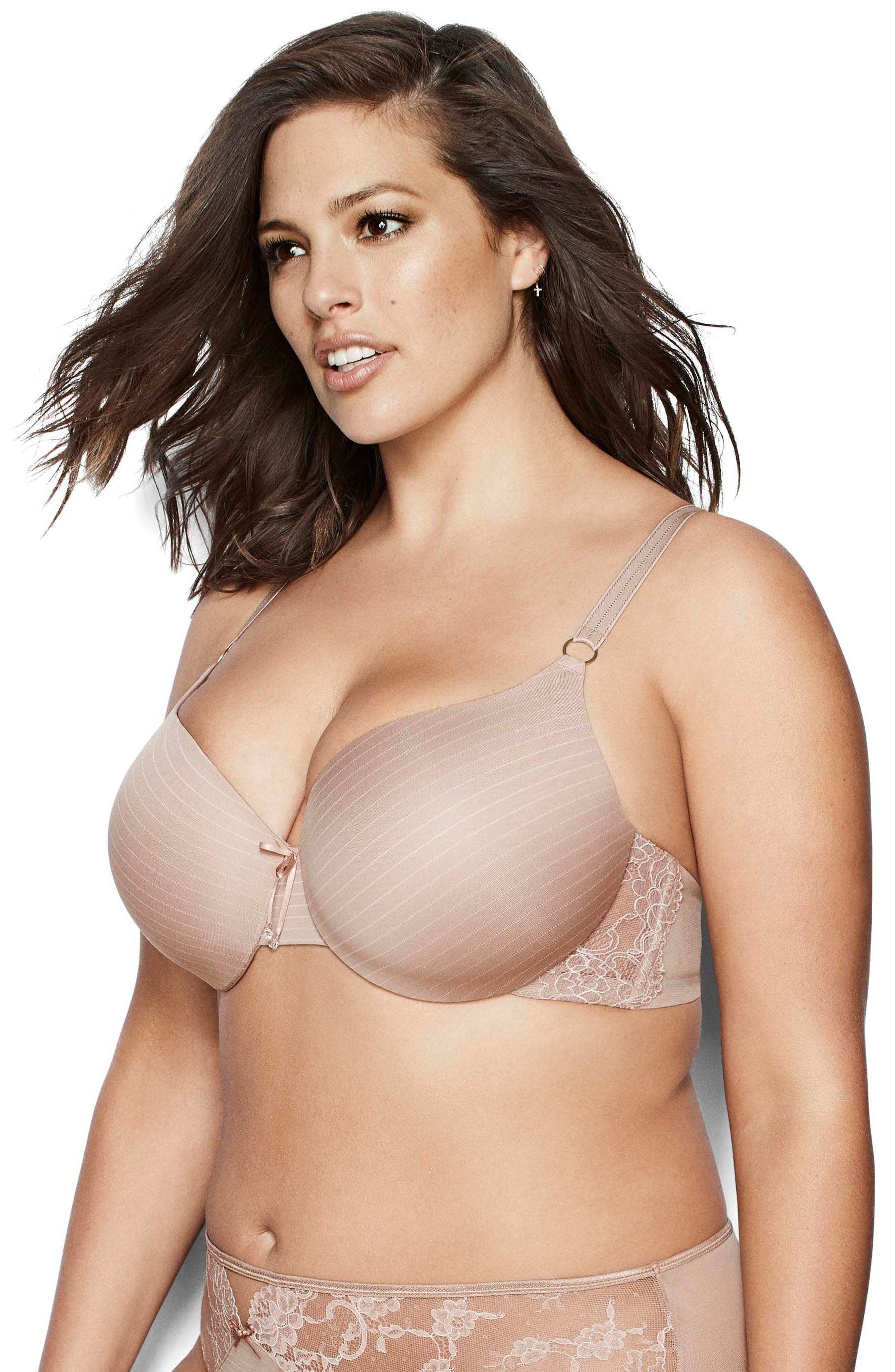 Alternate Image 4  - Ashley Graham Icon Underwire T-Shirt Bra (Plus Size)