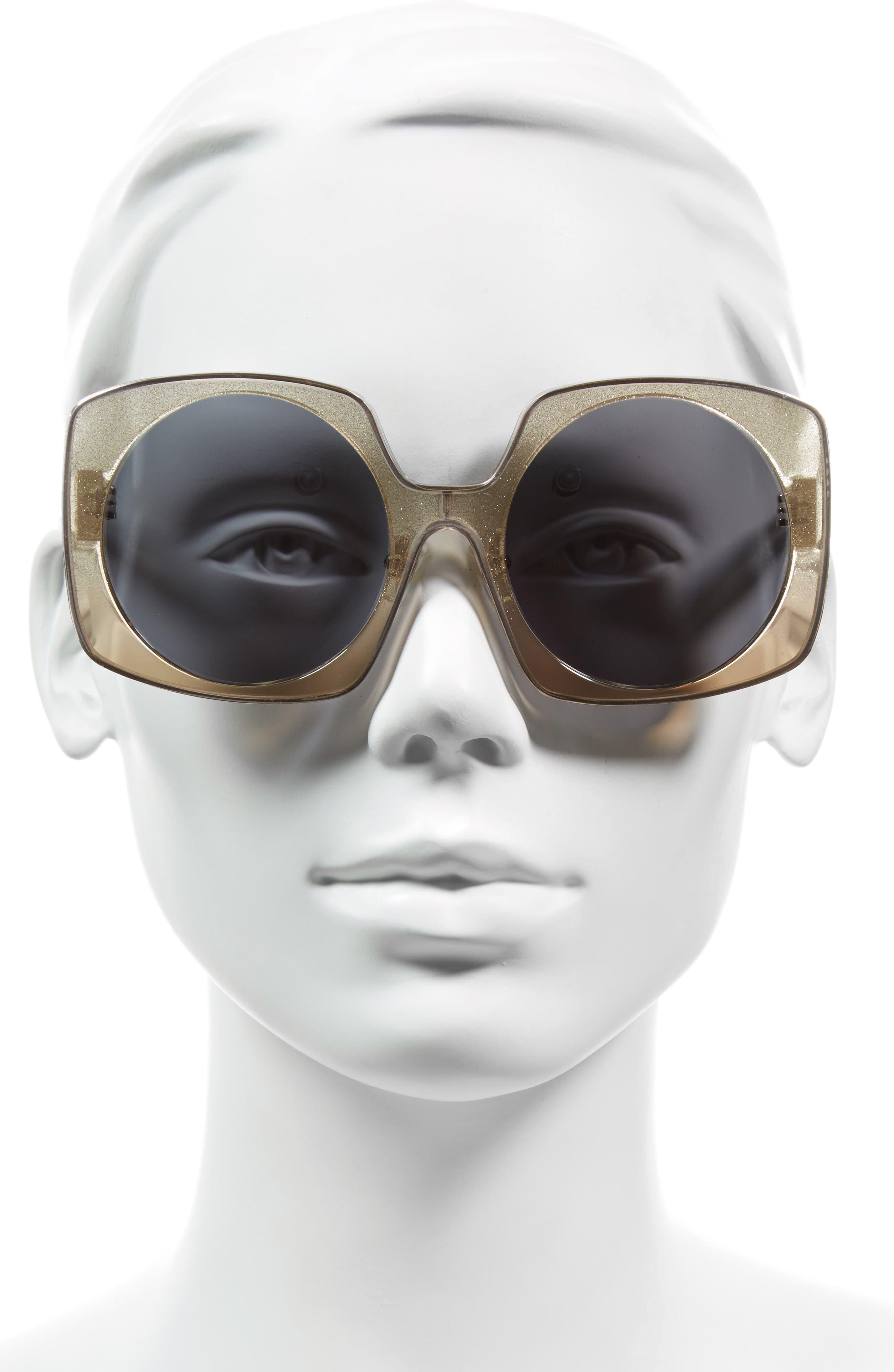 Alternate Image 2  - Alice + Olivia Canton 55mm Special Fit Square Sunglasses