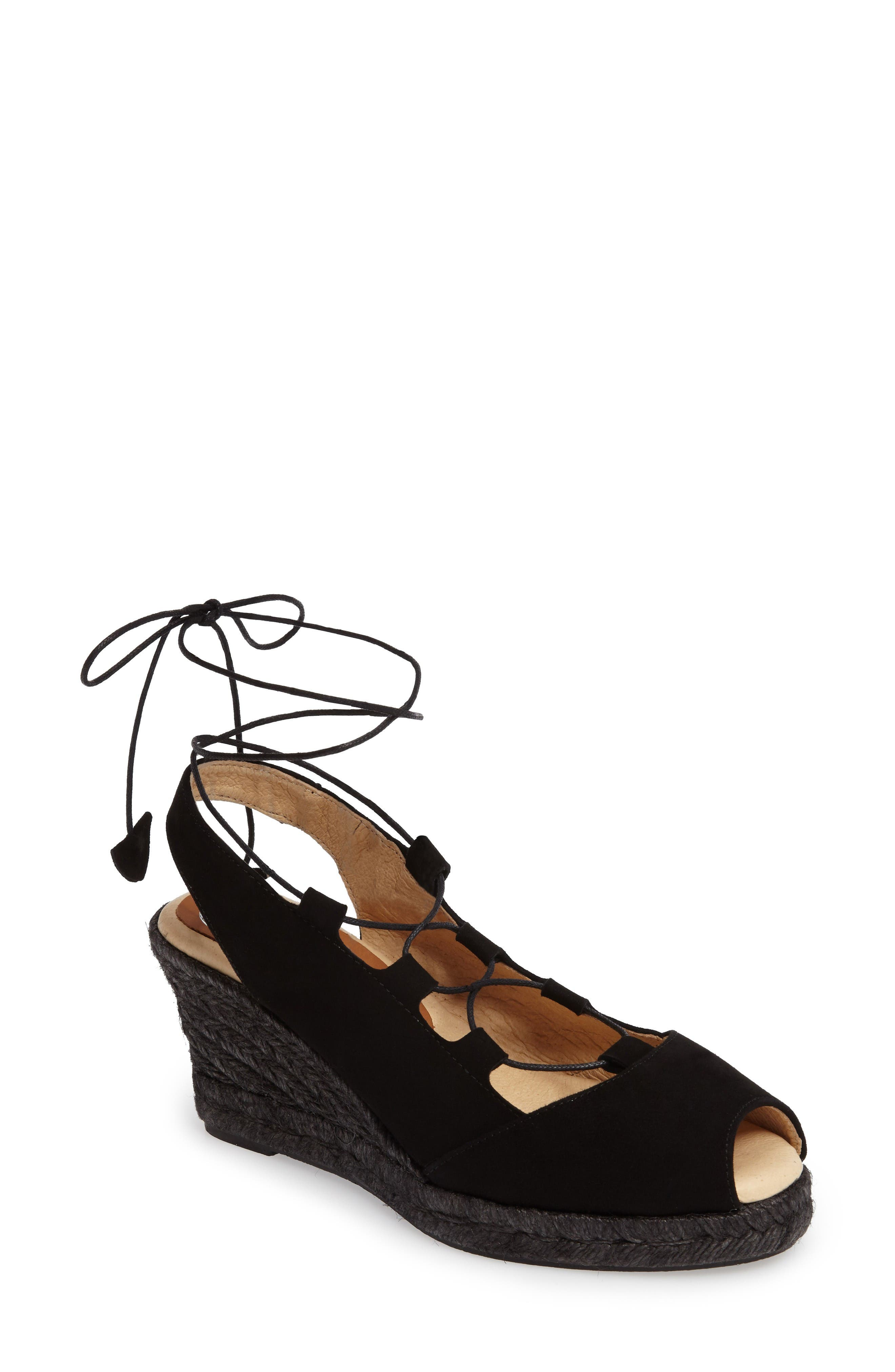 Main Image - patricia green Georgia Wraparound Wedge Sandal (Women)