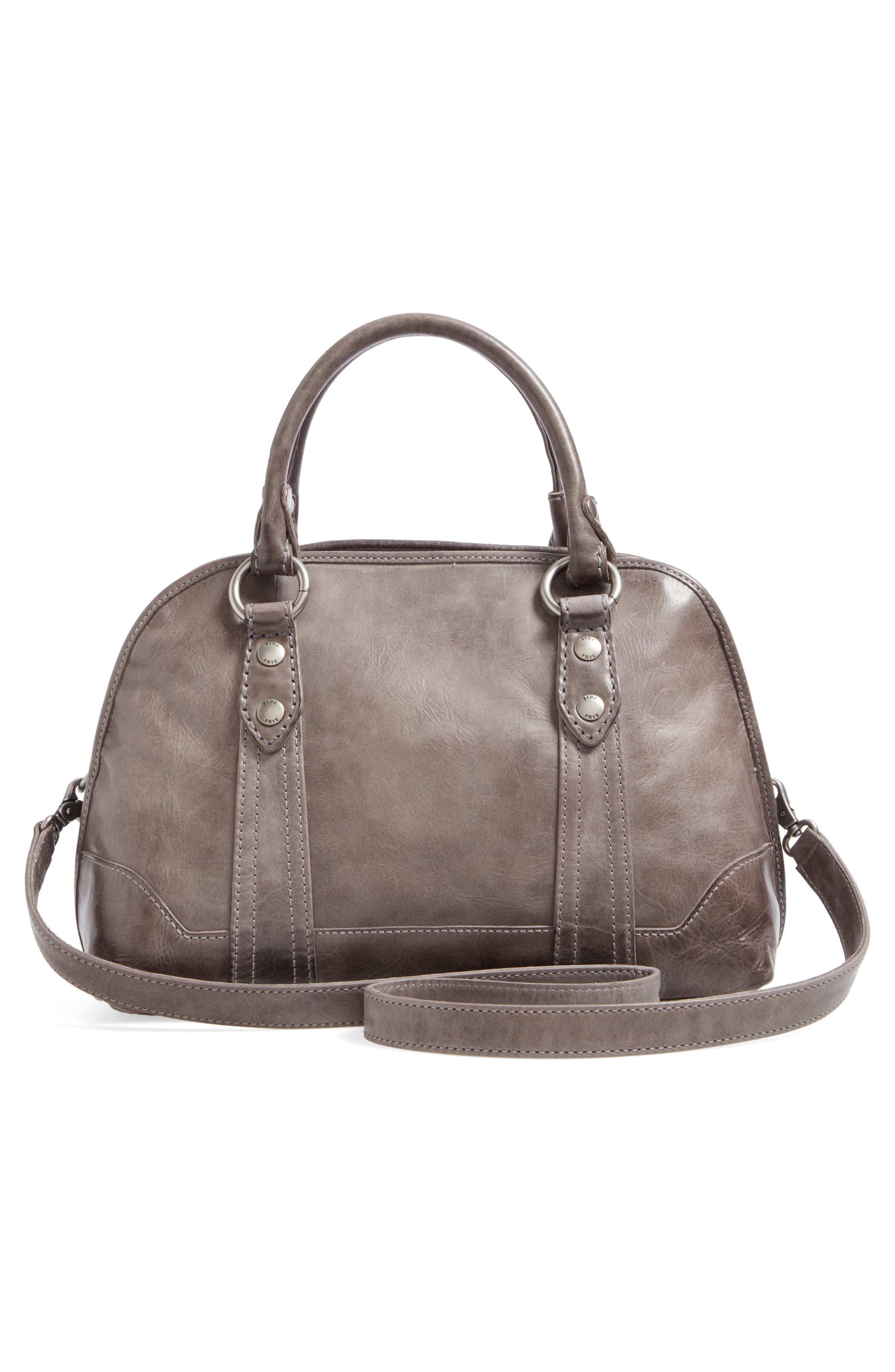 'Melissa' Domed Leather Satchel,                             Alternate thumbnail 2, color,                             Ice