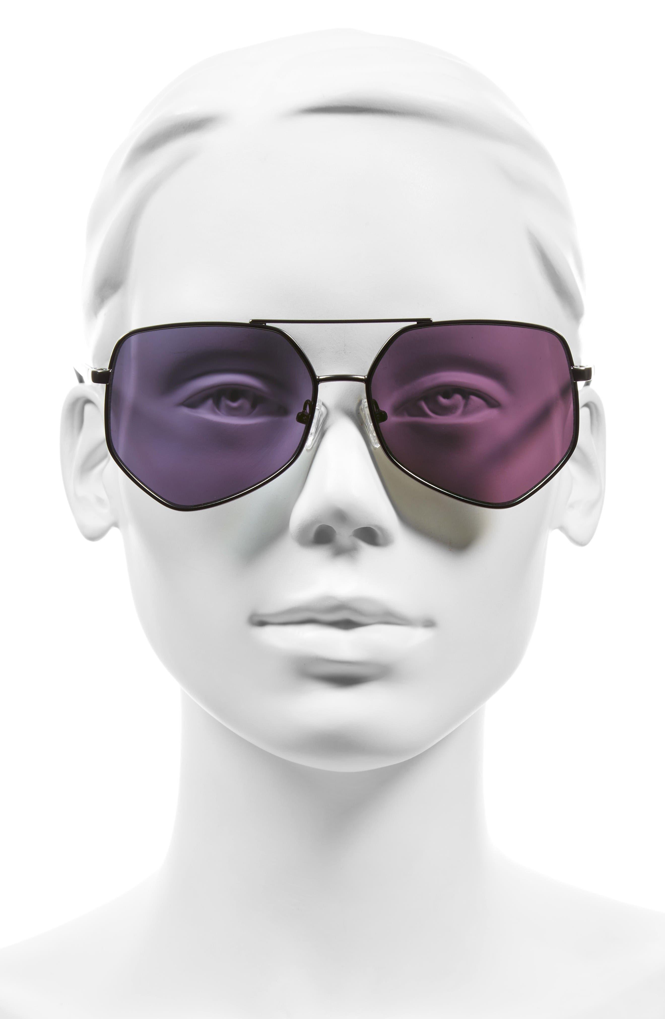Figueroa 58mm Sunglasses,                             Alternate thumbnail 3, color,                             Money Green