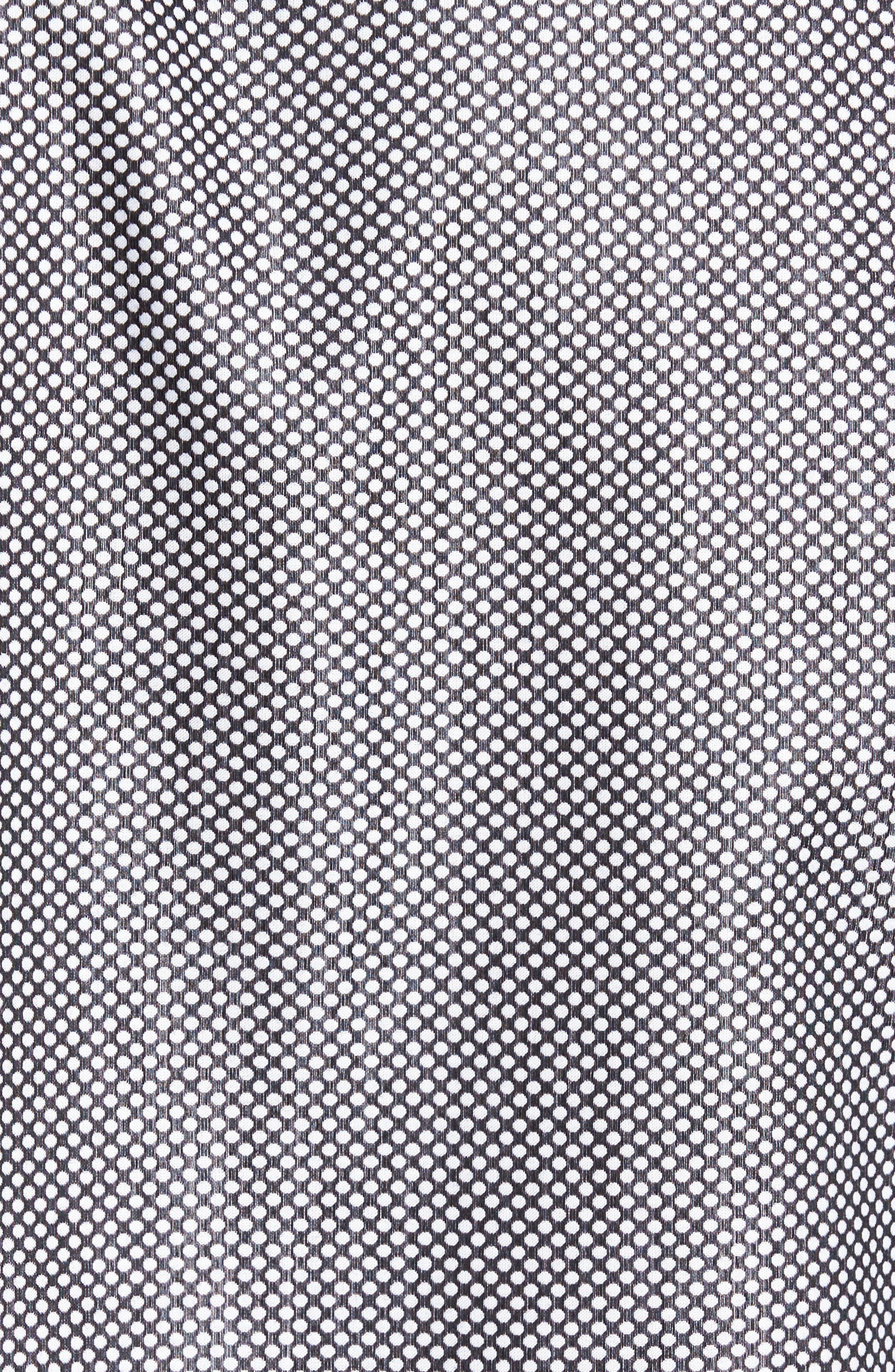 Shaped Fit Textured Sport Shirt,                             Alternate thumbnail 5, color,                             Black