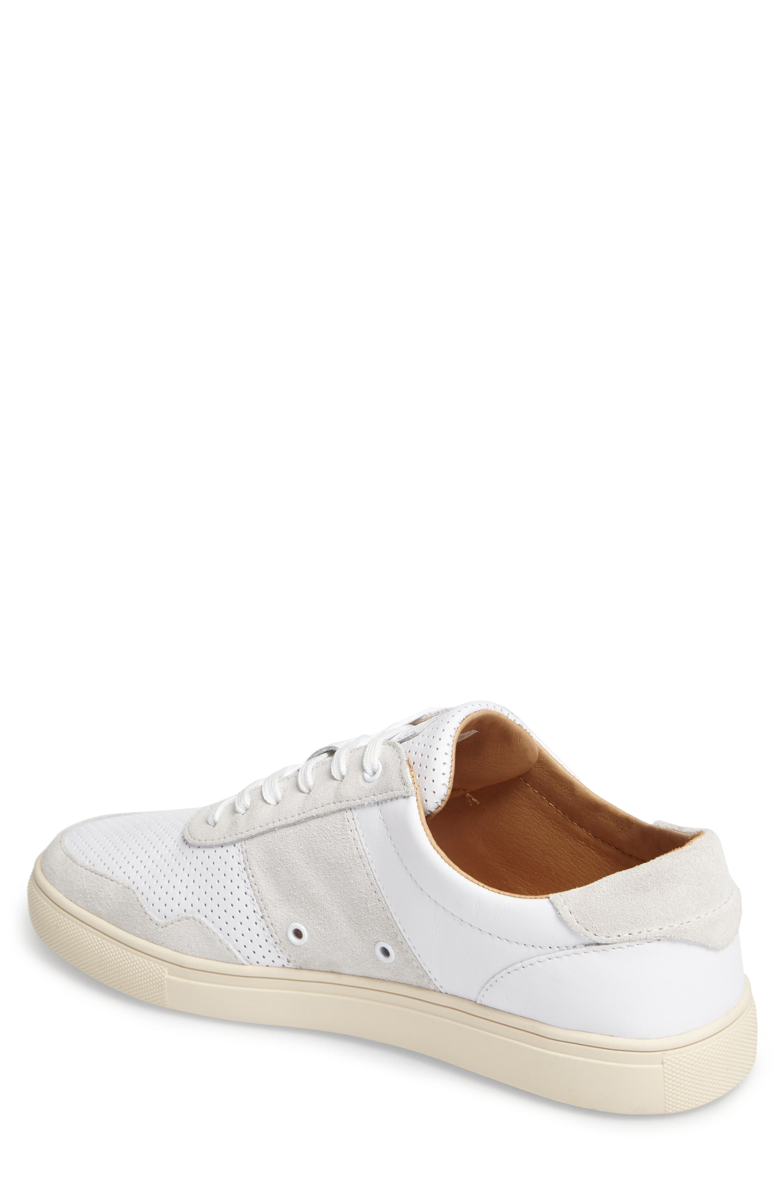'Gregory' Sneaker,                             Alternate thumbnail 2, color,                             White Leather