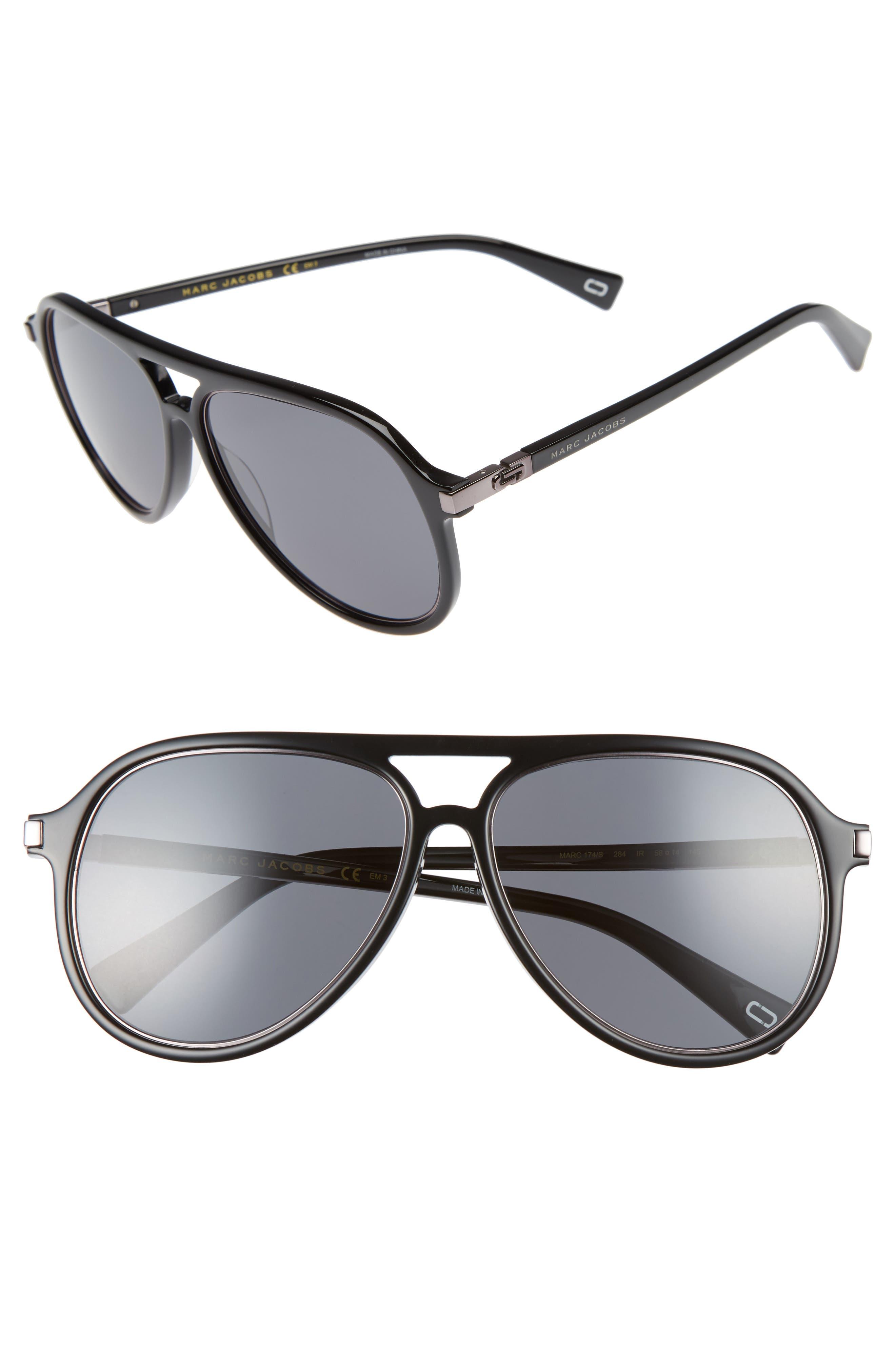 Main Image - MARC JACOBS 58mm Navigator Sunglasses