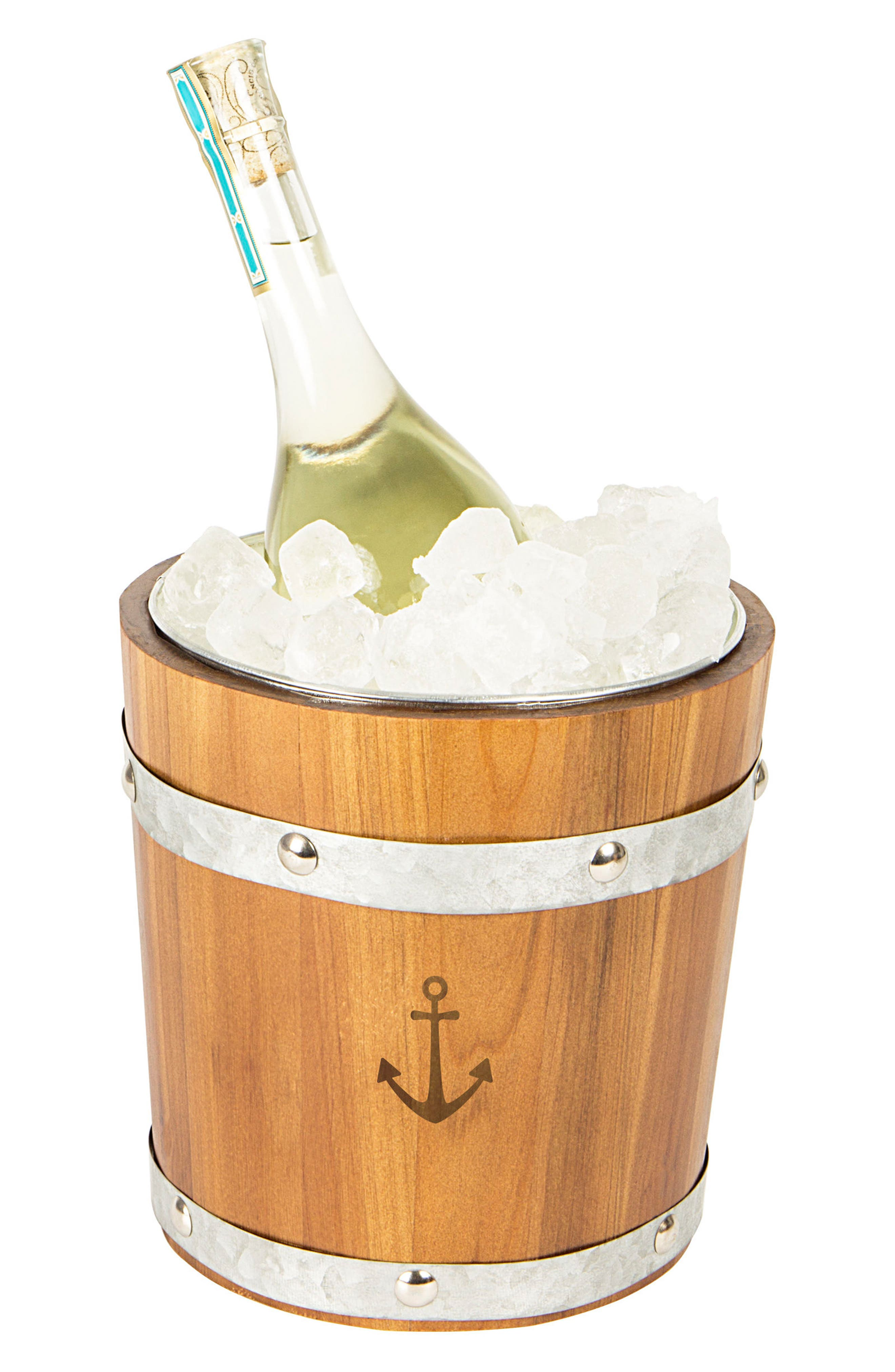 Rustic Anchor Ice Bucket,                         Main,                         color, Brown
