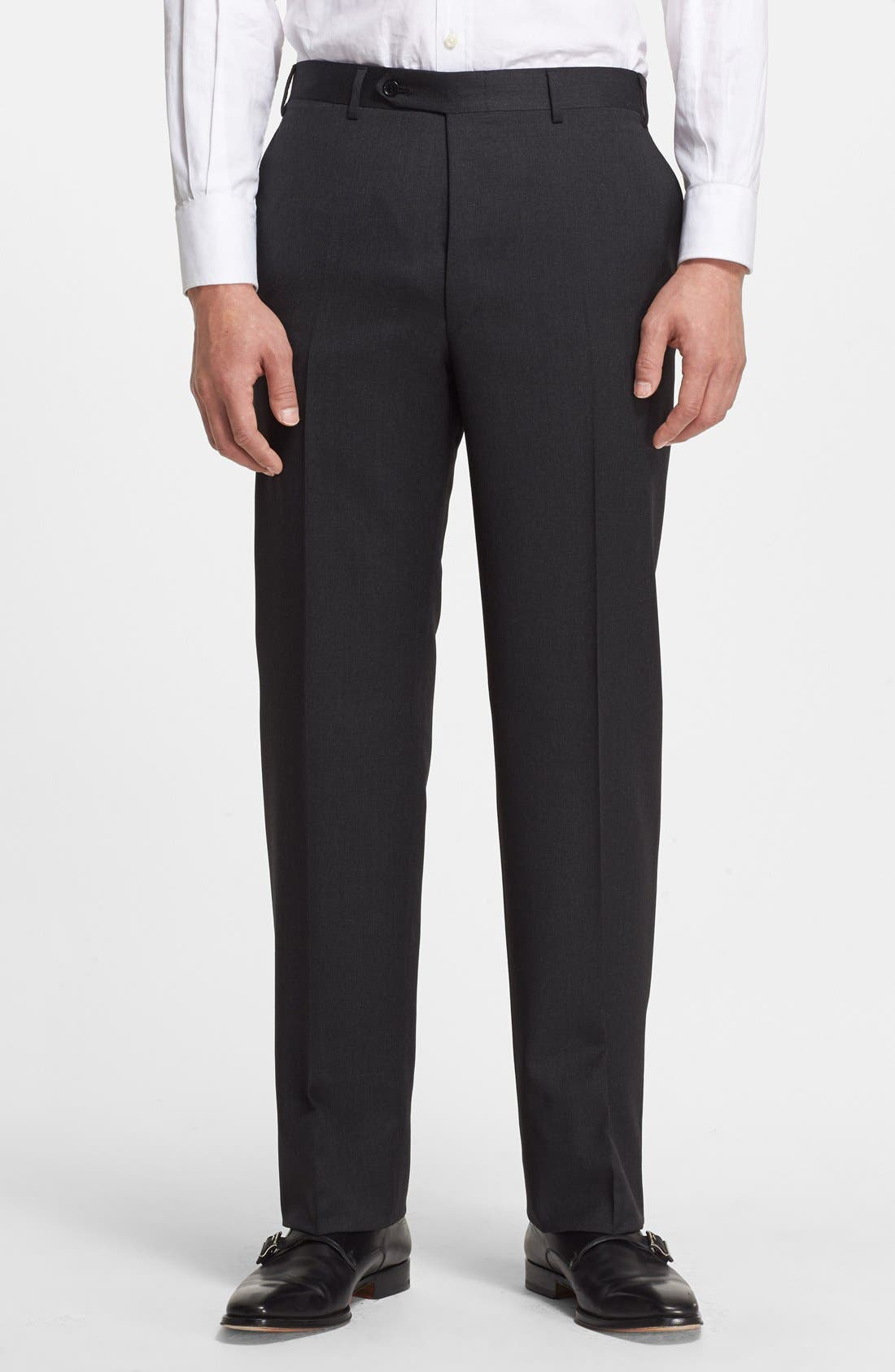 Alternate Image 4  - Canali Trim Fit Wool Suit