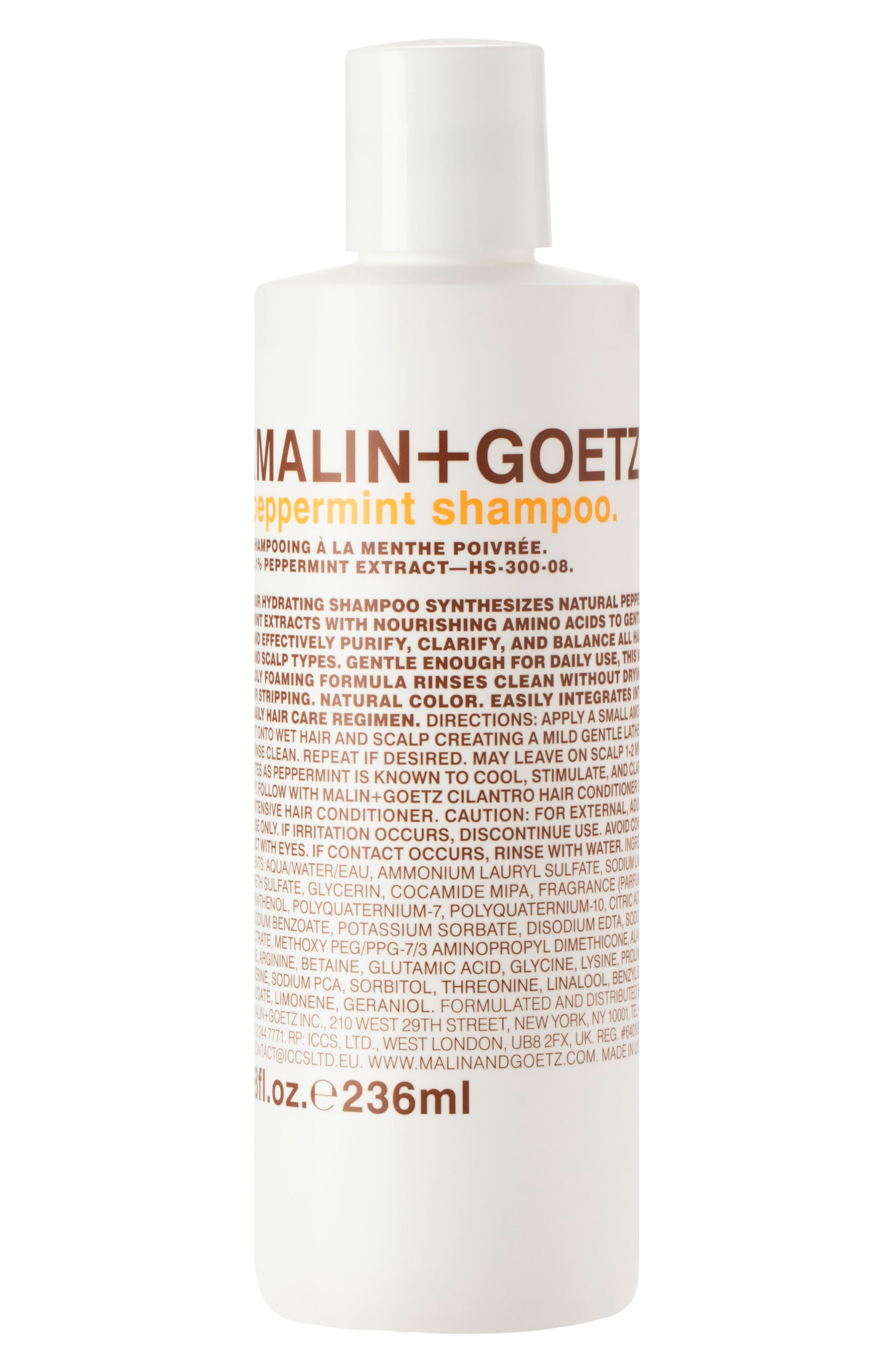 SPACE.NK.apothecary Malin + Goetz Peppermint Shampoo,                             Main thumbnail 1, color,                             No Color