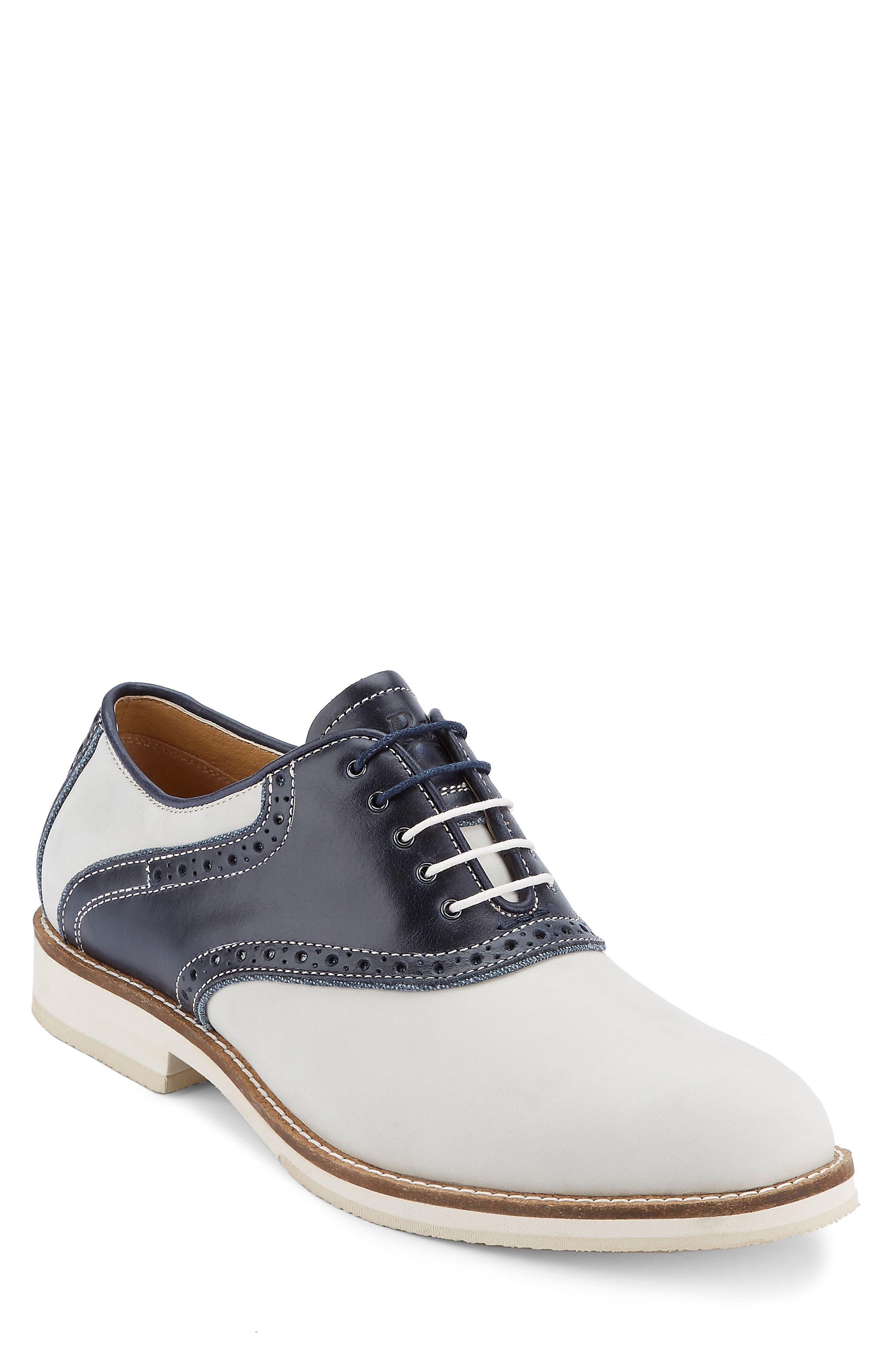 Noah Saddle Shoe,                         Main,                         color, Oyster/ Navy